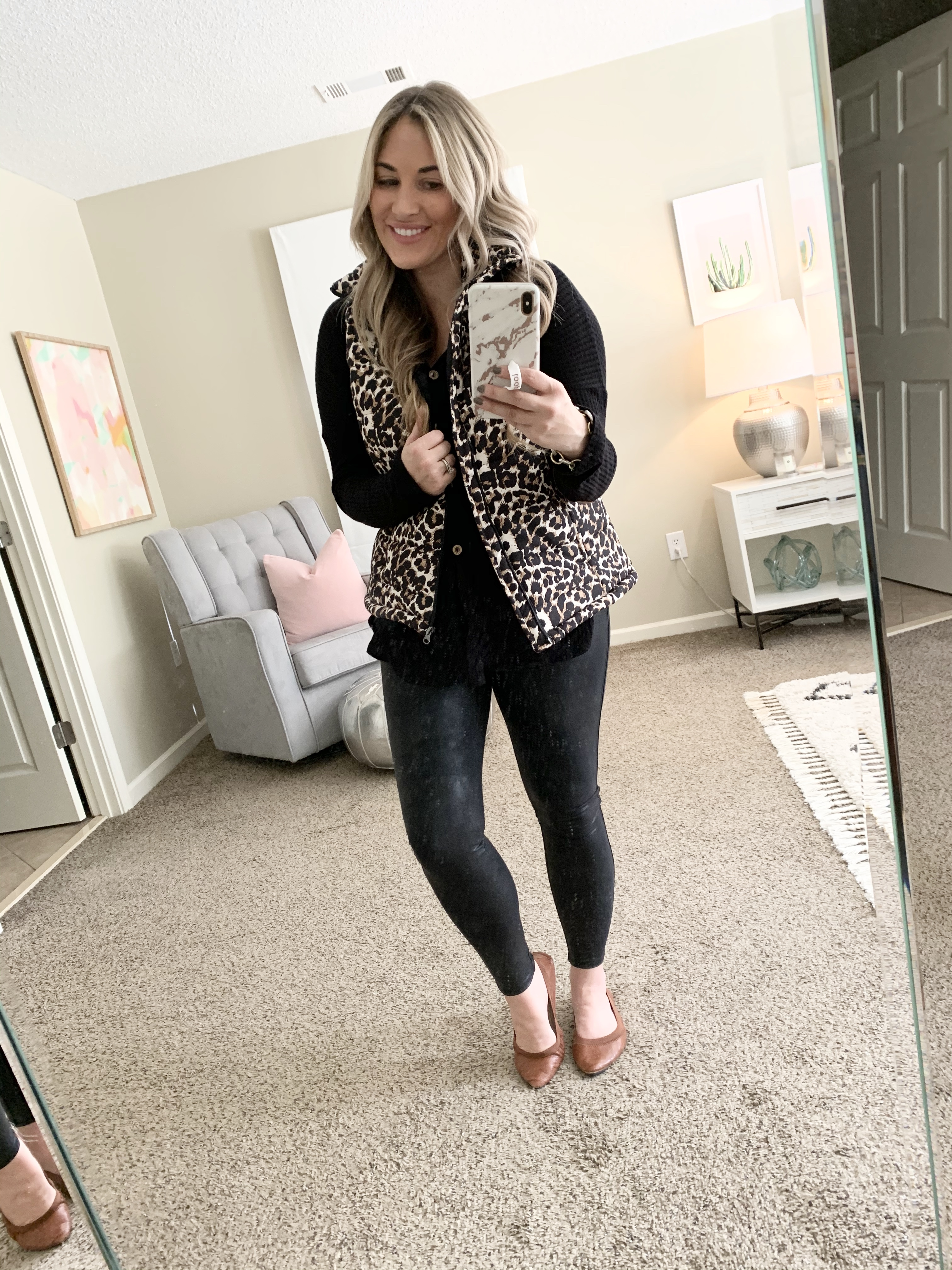 How to style faux leather leggings this Fall; outfits featured by top US fashion blog, Walking in Memphis in High Heels.