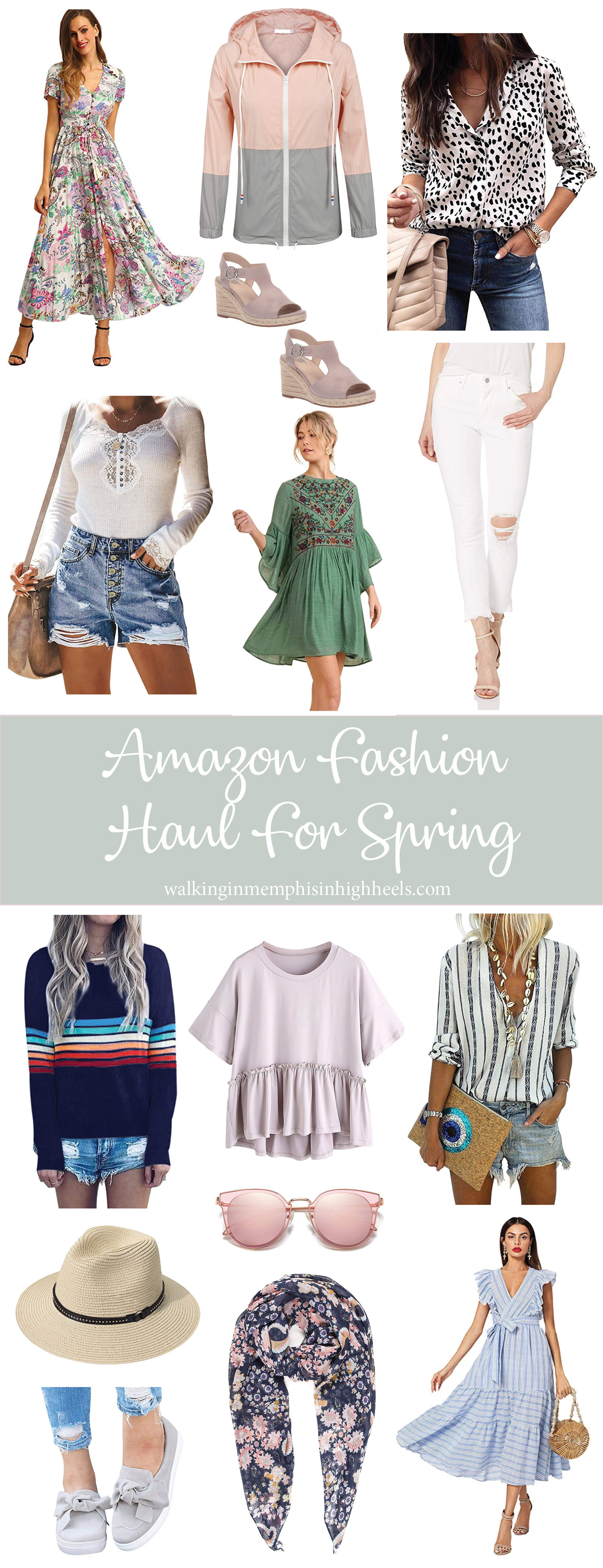 Amazon Fashion Haul: Spring Favorites featured by top Memphis fashion blog, Walking in Memphis in High Heels.