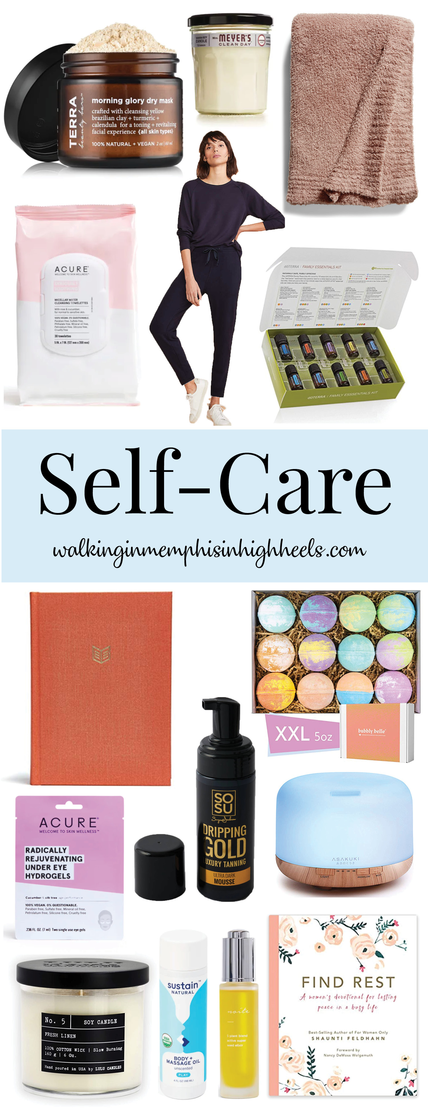Daily Self Care tips featured by top Memphis lifestyle blog, Walking in Memphis in High Heels.