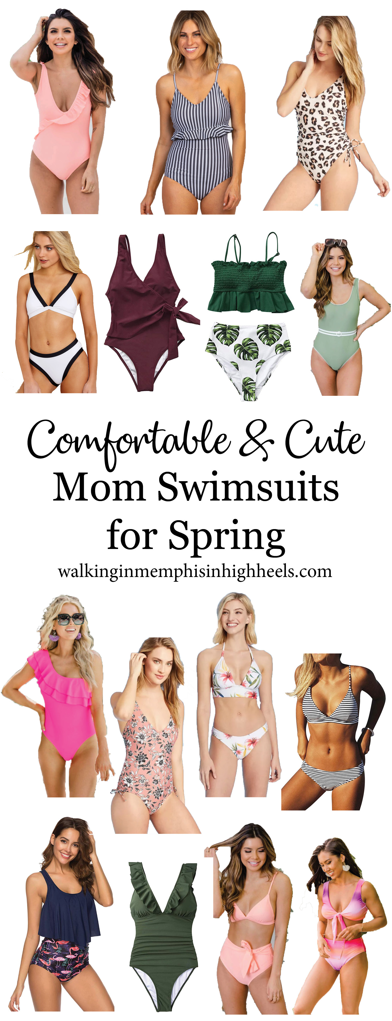 Comfortable & Cute Mom Swimsuits for Spring featured by top Memphis fashion blog, Walking in Memphis in High Heels.