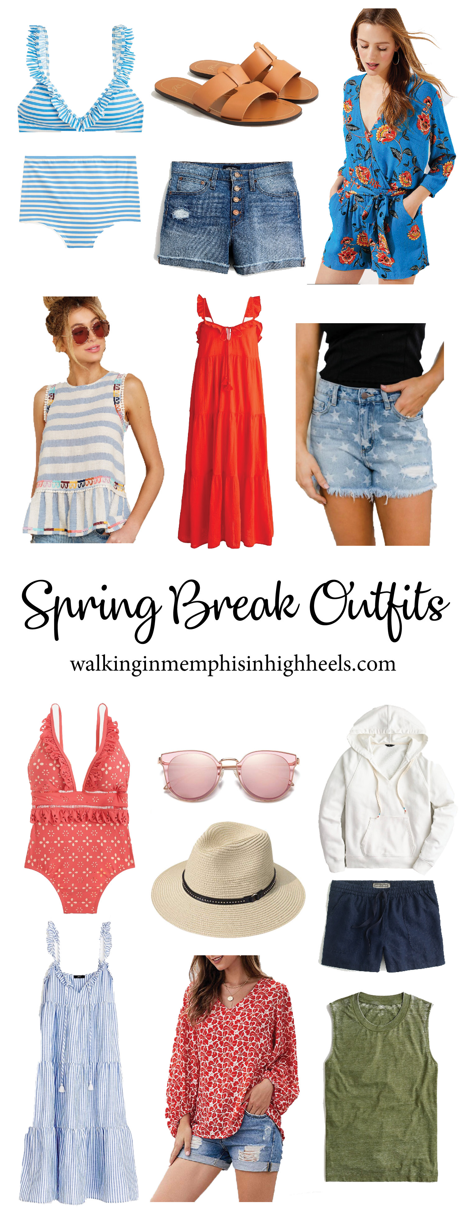 Cute Spring Break Outfits featured by top Memphis fashion blog, Walking in Memphis in High Heels.