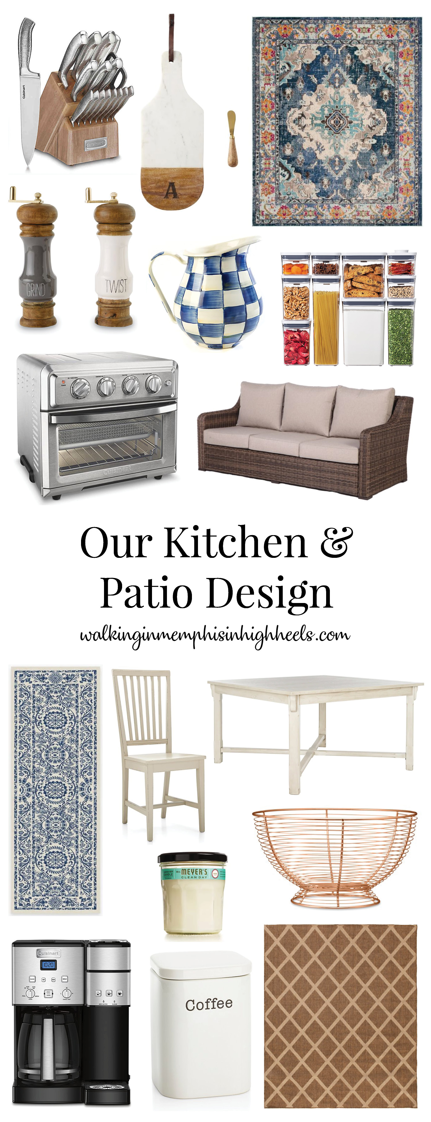 kitchen and patio essentials featured by top Memphis lifestyle blog, Walking in Memphis in High Heels.