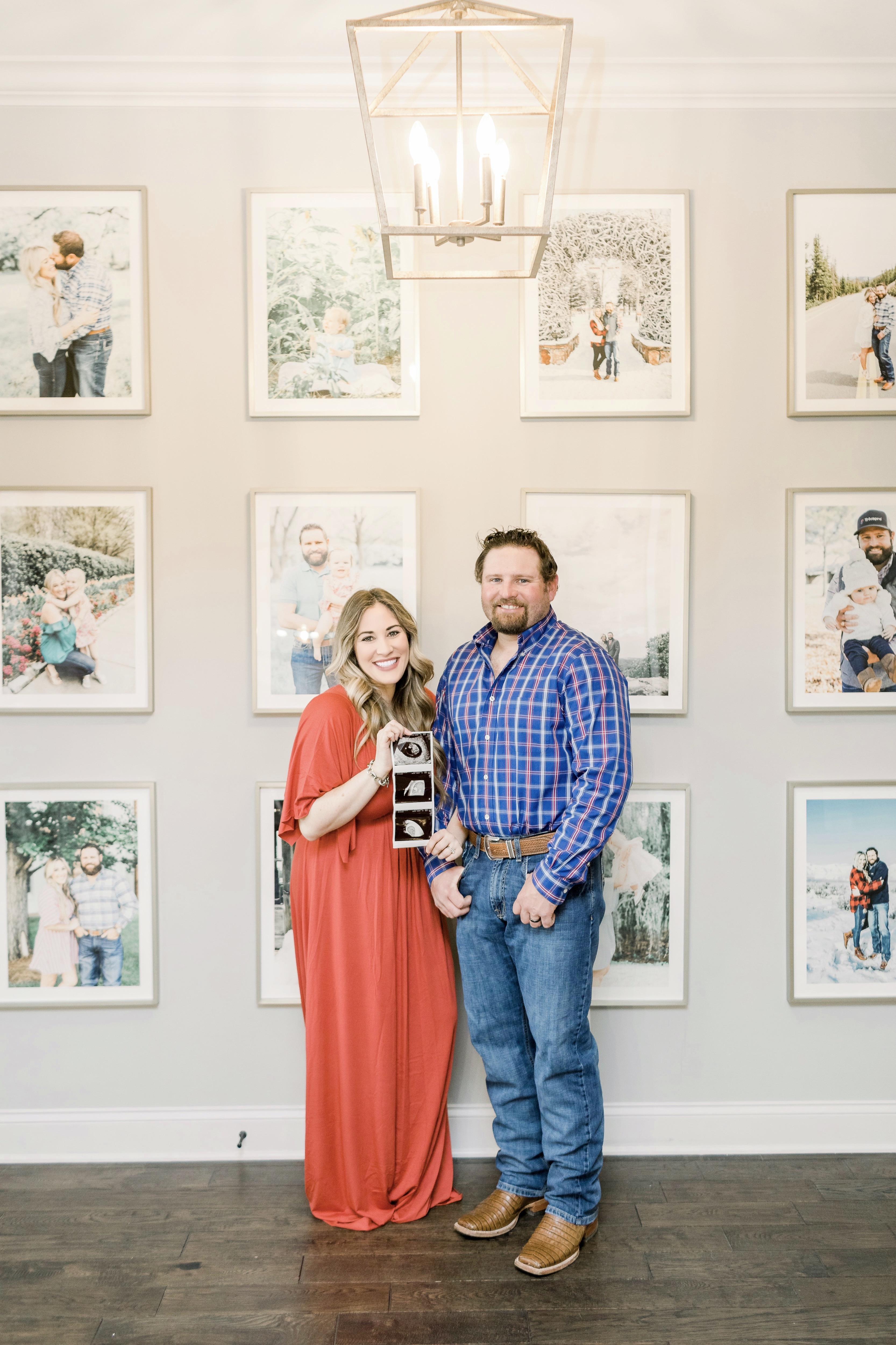 Pregnancy announcement featured by top Memphis life and style blog, Walking in Memphis in High Heels.