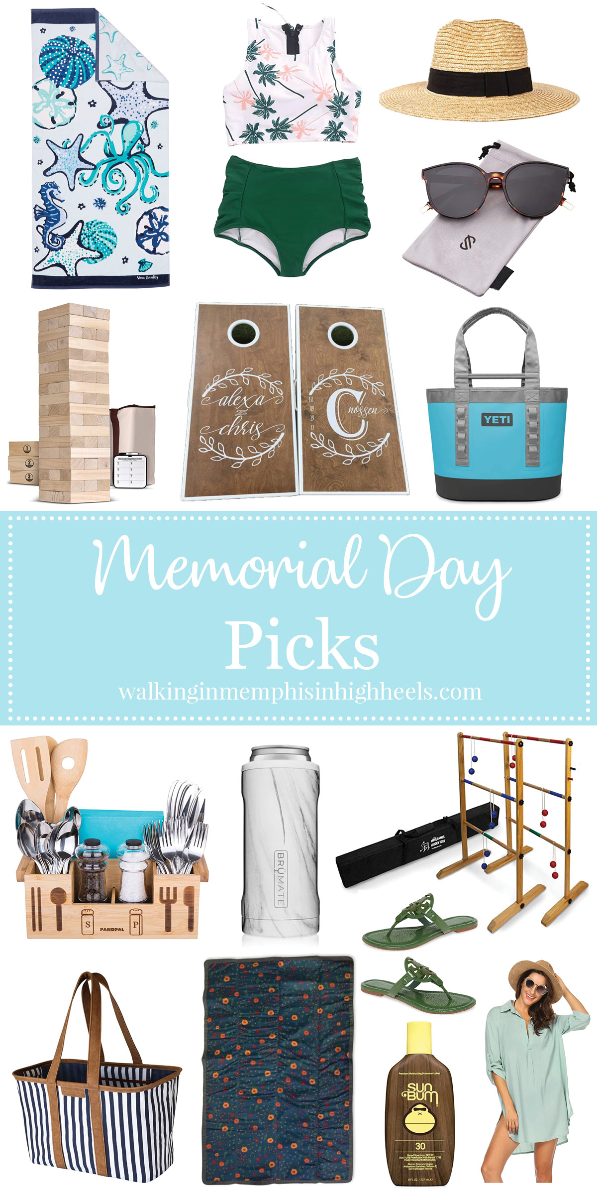 Memorial Day Weekend Style: 15 Essentials to Spend the Weekend Outdoors featured by top Memphis life and style blog, Walking in Memphis in High Heels.