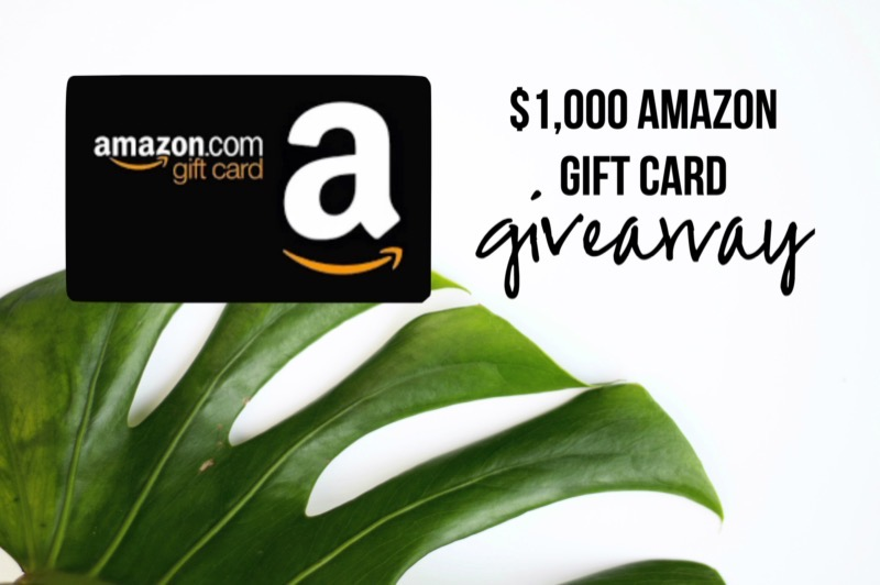 $1000 Amazon Gift Card Giveaway featured by top Memphis life and style blogger, Walking in Memphis in High Heels.