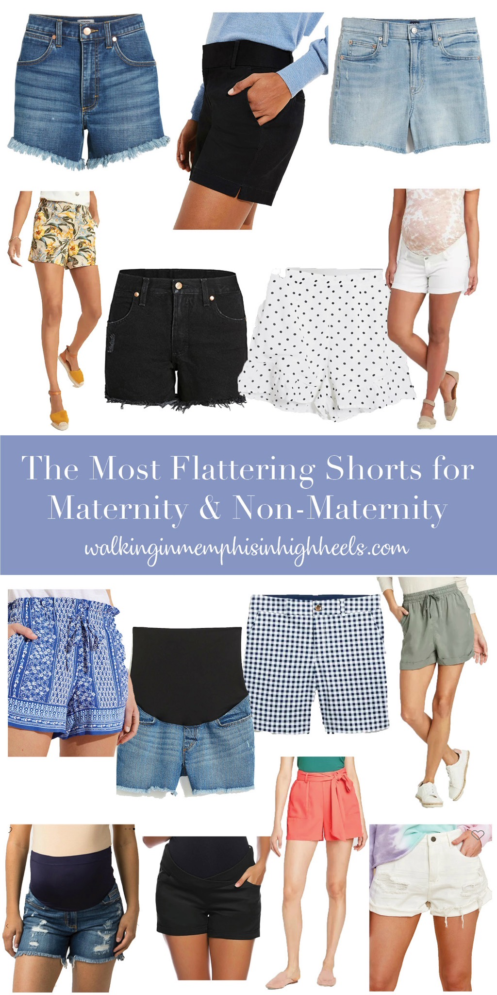 Most Flattering Shorts for Maternity & Non-Maternity featured by top Memphis fashion blogger, Walking in Memphis in High Heels.