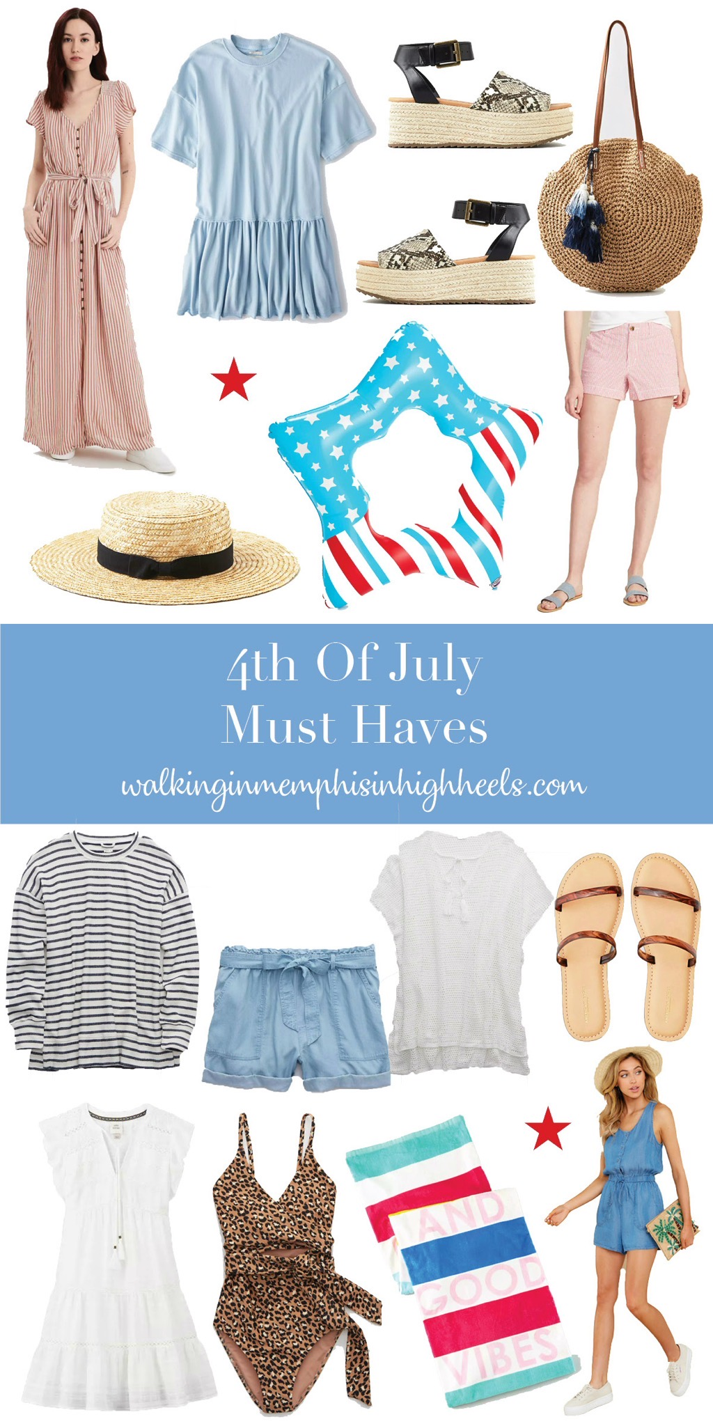 Style Guide: 4th of July Essentials featured by top Memphis fashion blogger, Walking in Memphis in High Heels.
