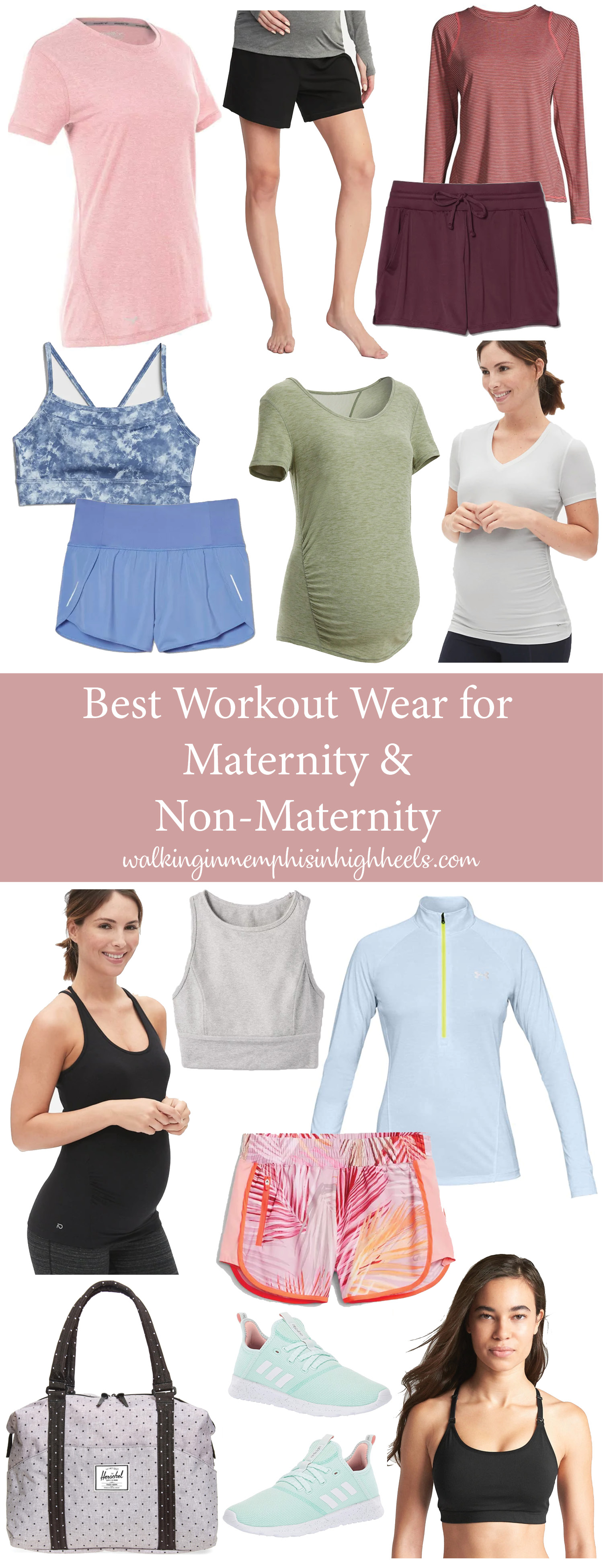 Best Maternity & Non-Maternity Summer Workout Wear featured by top Memphis fitness blogger, Walking in Memphis in High Heels.