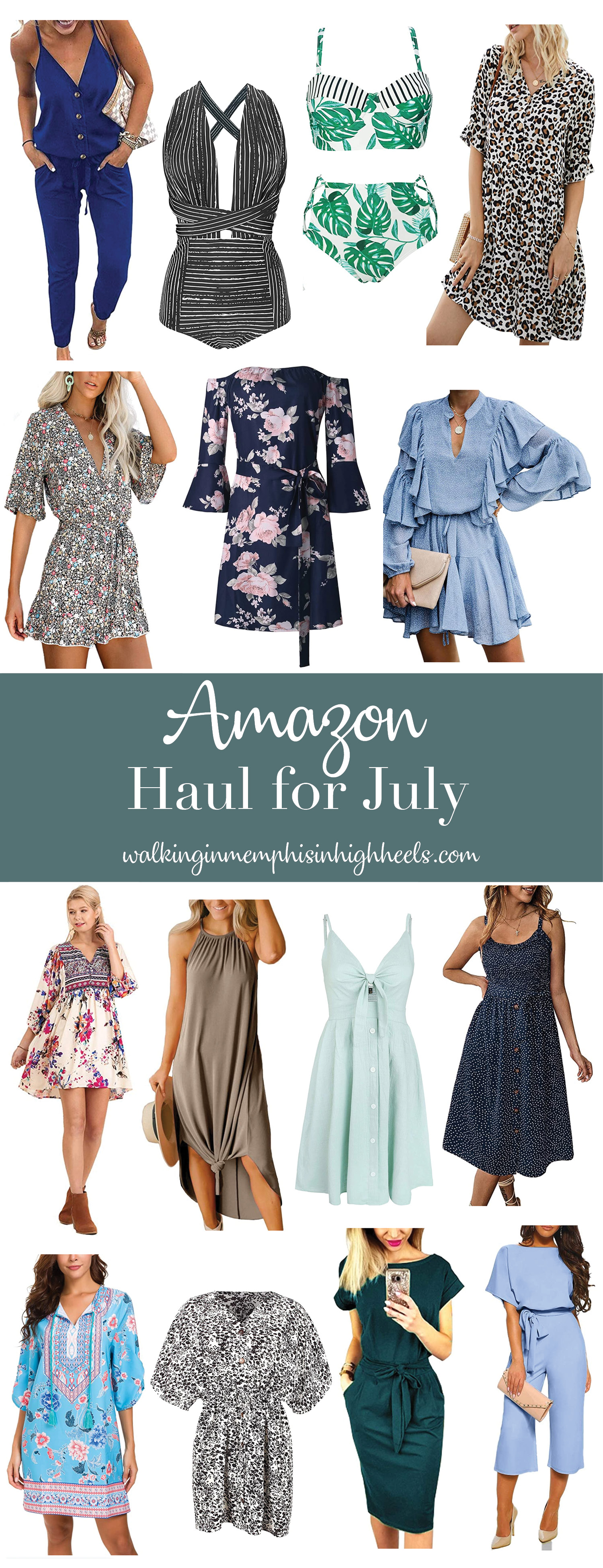 Amazon Fashion Summer Haul for July featured by top Memphis fashion blogger, Walking in Memphis in High Heels.