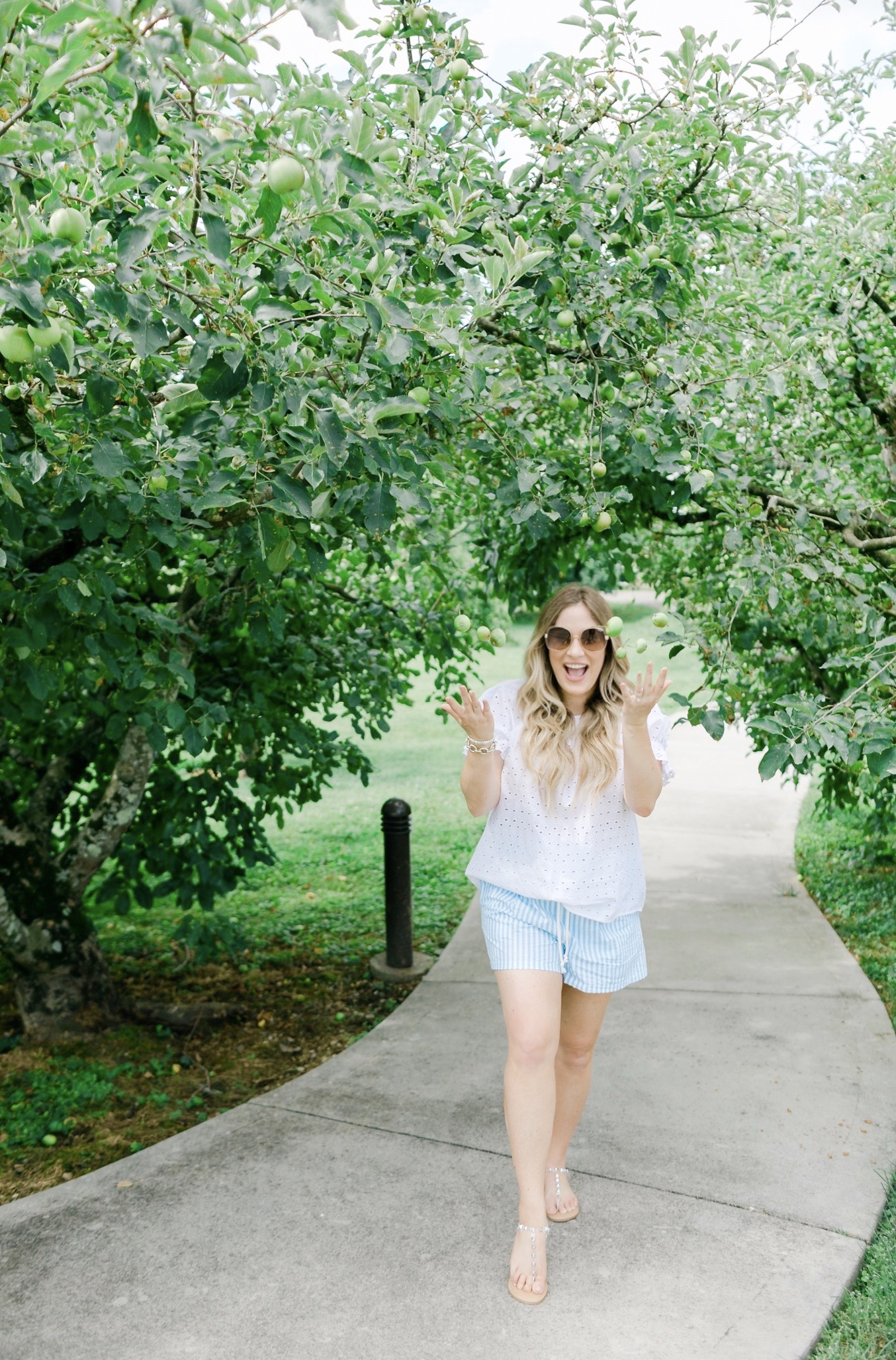 Cute summer shorts for women featured by top Memphis fashion blogger, Walking in Memphis in High Heels: image of a woman wearing Wild Fable High Rise shorts from Target.