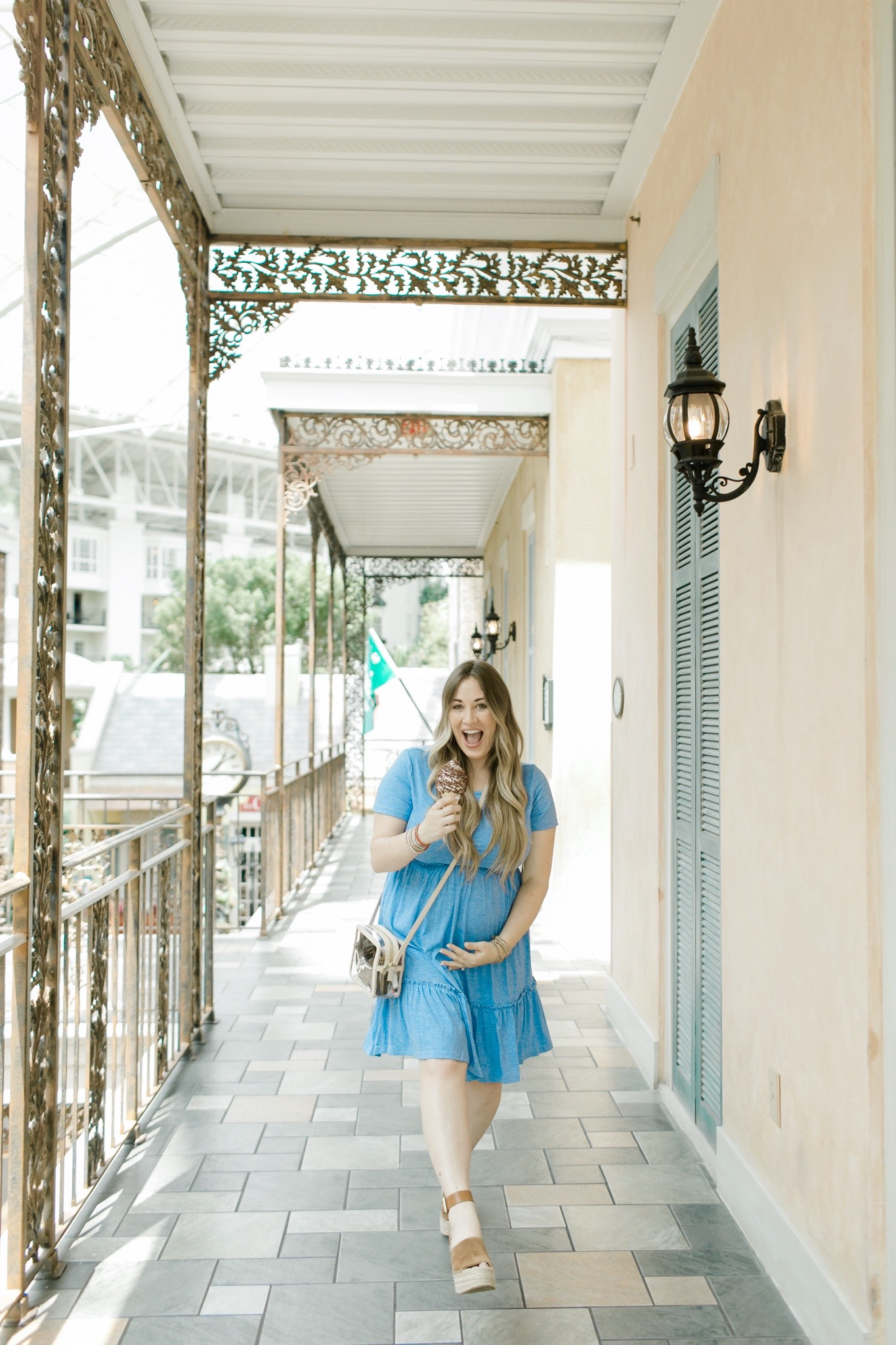 Summer Fashion Accessories on sale featured by top Memphis fashion blogger, Walking in Memphis in High Heels: image of a pregnant woman wearing Victoria Emerson bracelets.