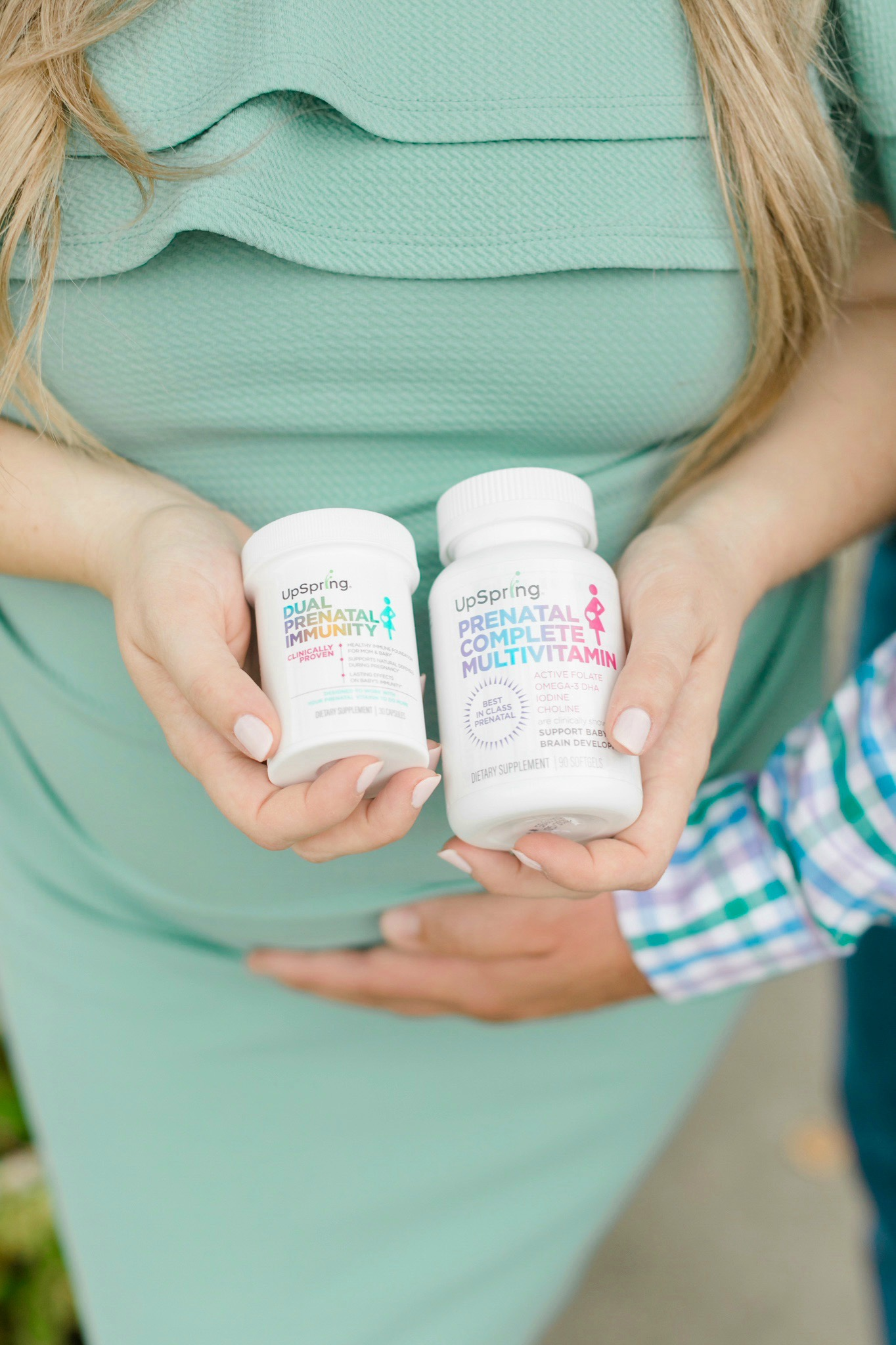 How to Boost Your Immune System for Both Mama + Baby during Pregnancy, tips featured by top Memphis mom blogger, Walking in Memphis in High Heels: upSpring vitamins review