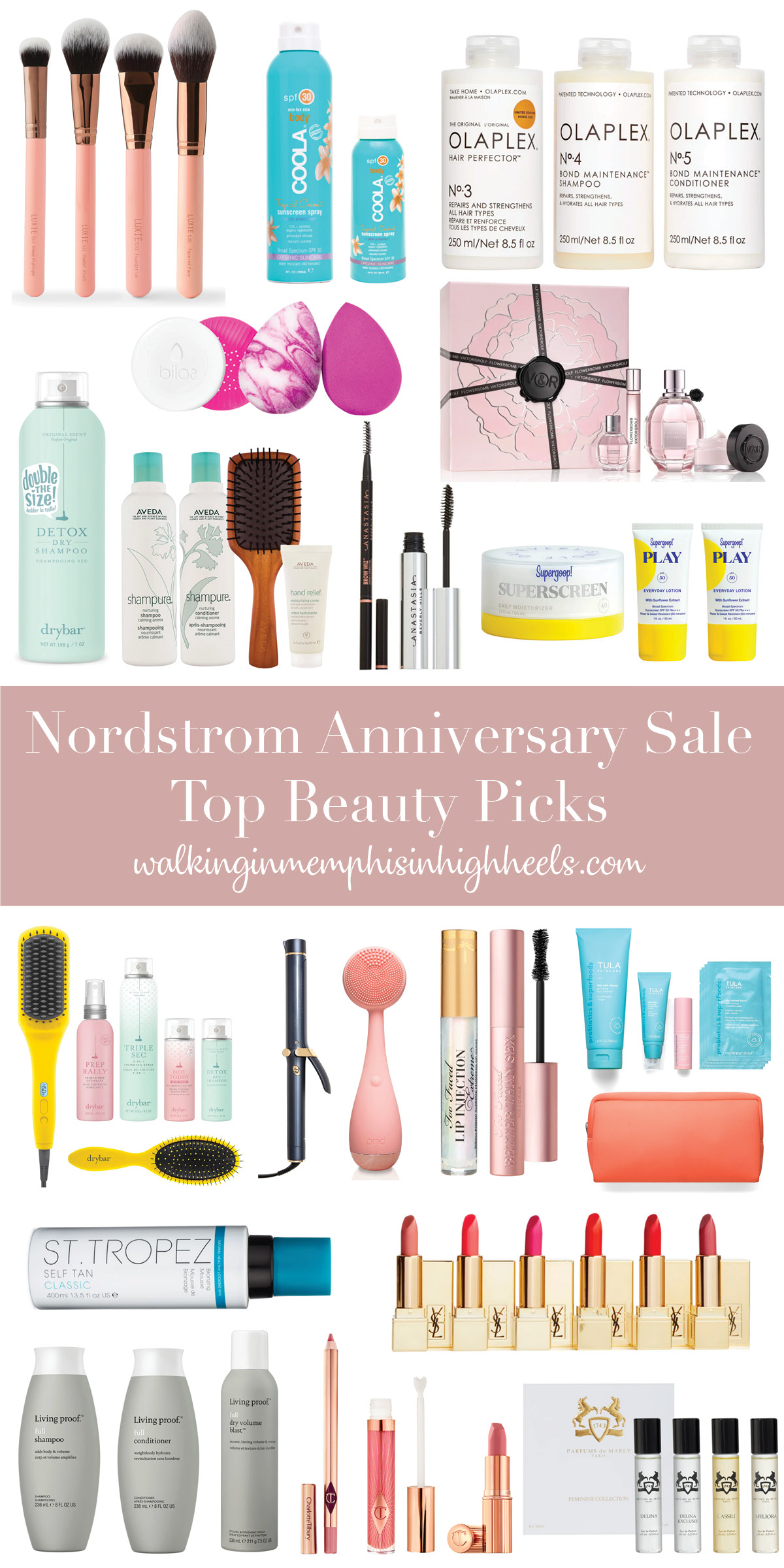 Nordstrom Anniversary Sale: Top Beauty + Skincare Picks featured by top Memphis beauty blogger, Walking in Memphis in High Heels.