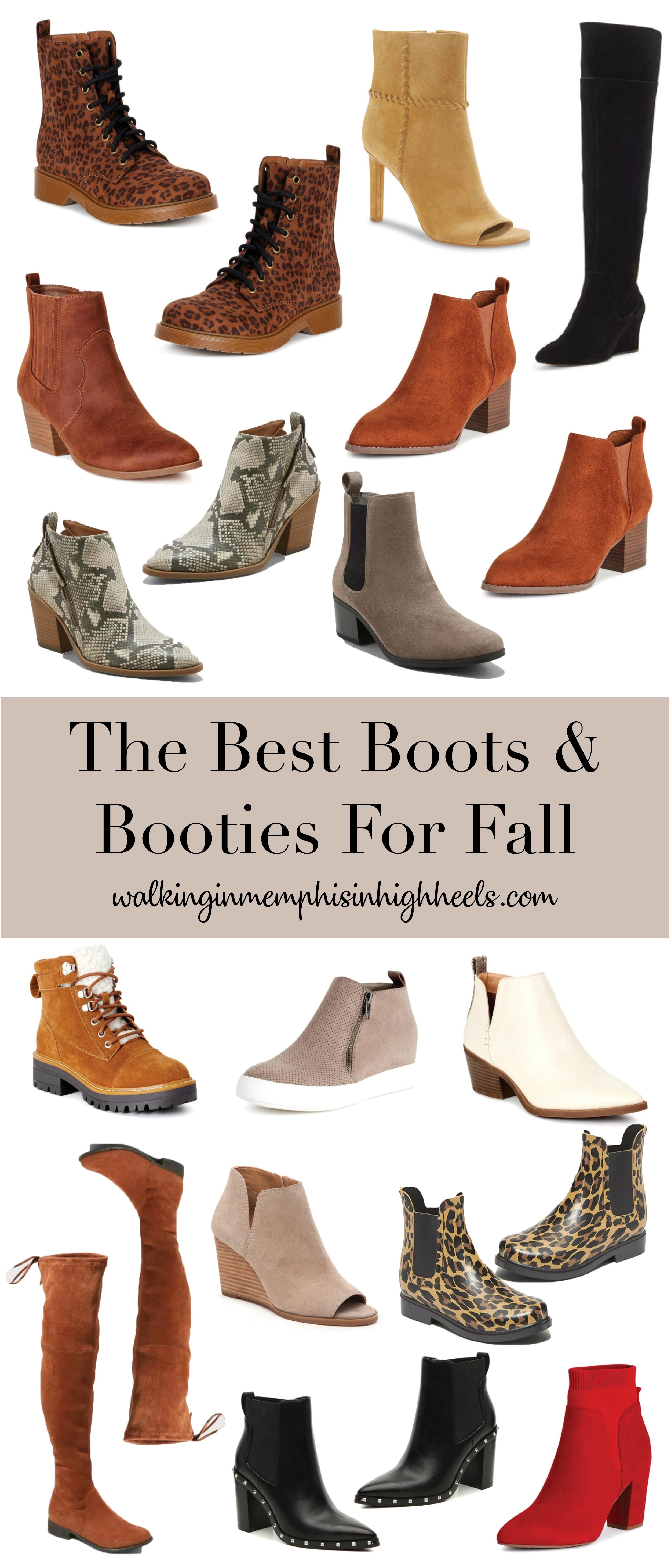The Best Fall Boots & Booties for Women featured by top Memphis fashion blogger, Walking in Memphis in High Heels.