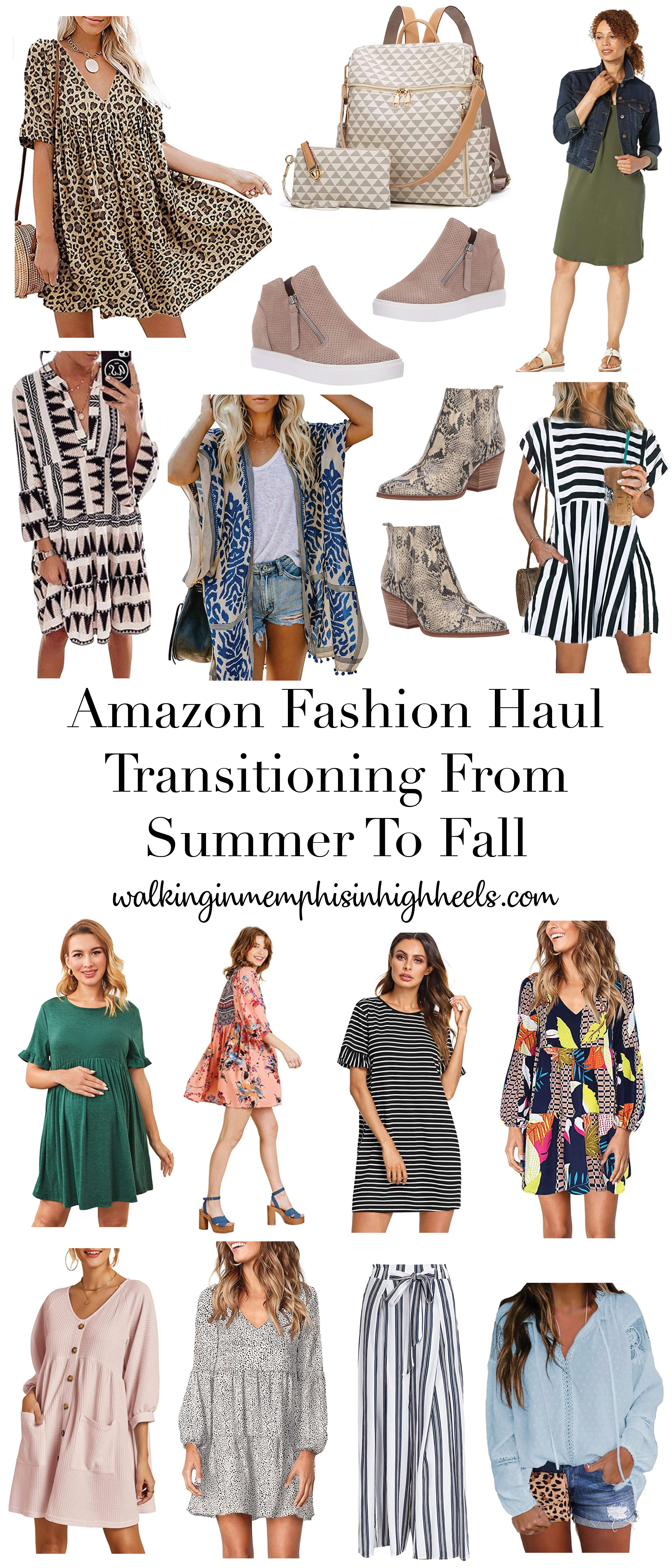 Amazon Fashion Haul to Transition from Summer to Fall featured by top Memphis fashion blogger, Walking in Memphis in High Heels.