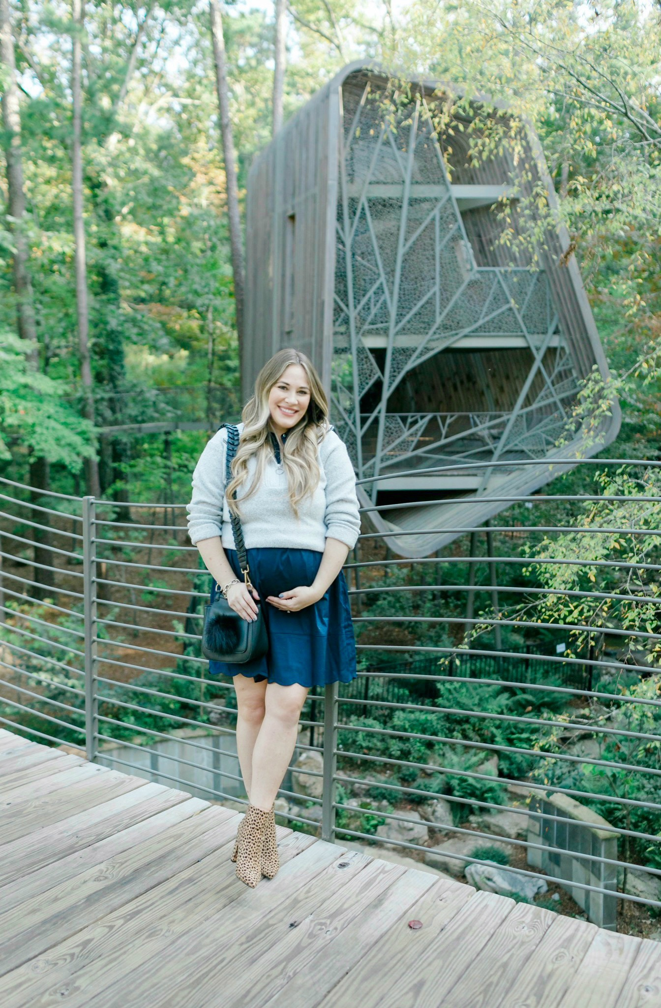 Cute fall sweater look styled by top Memphis fashion blogger, Walking in Memphis in High Heels: image of a woman wearing an Old Navy Mock Neck sweater.