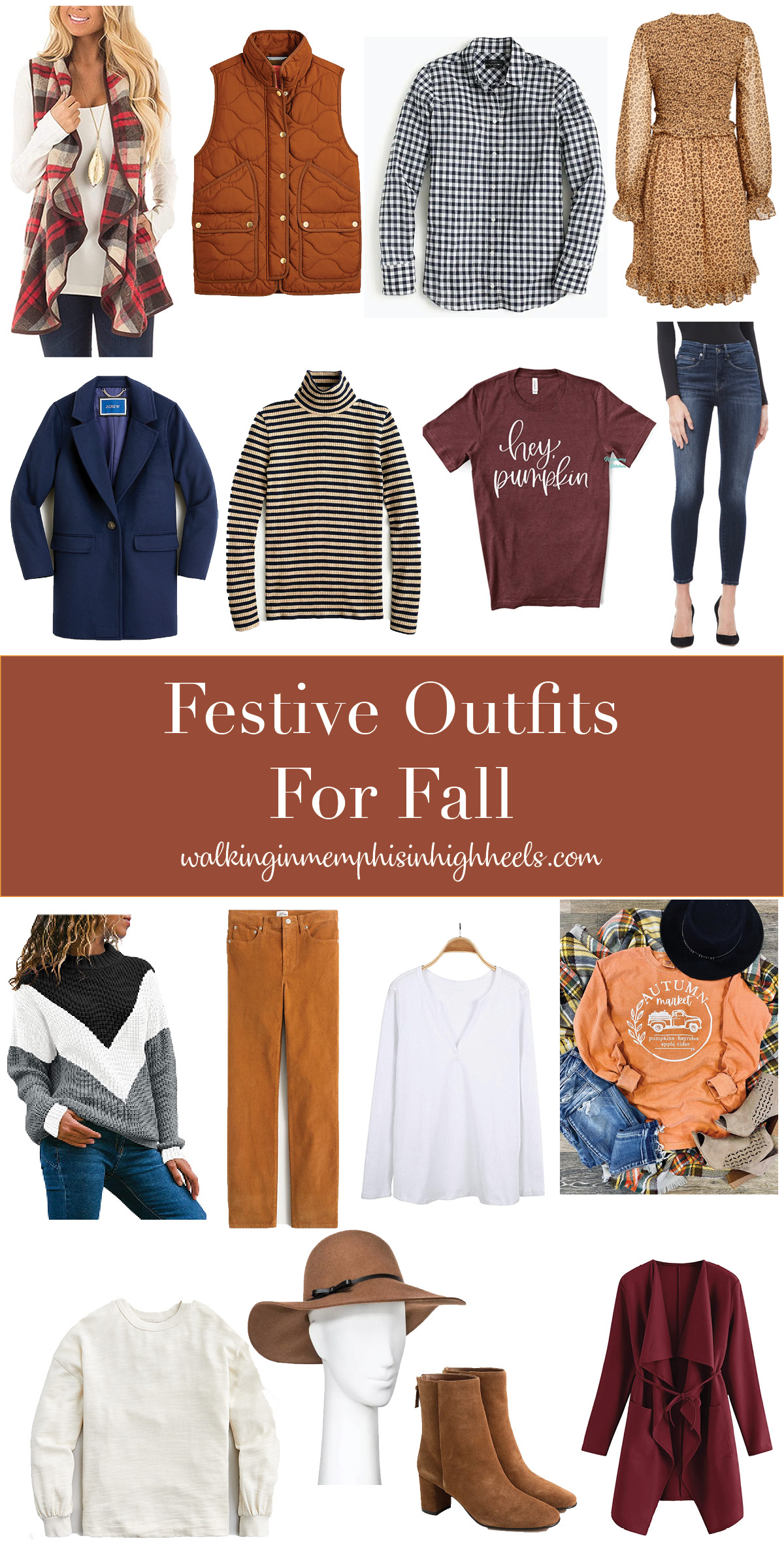 Cute Festive Outfits for Fall featured by top Memphis fashion blogger, Walking in Memphis in High Heels.