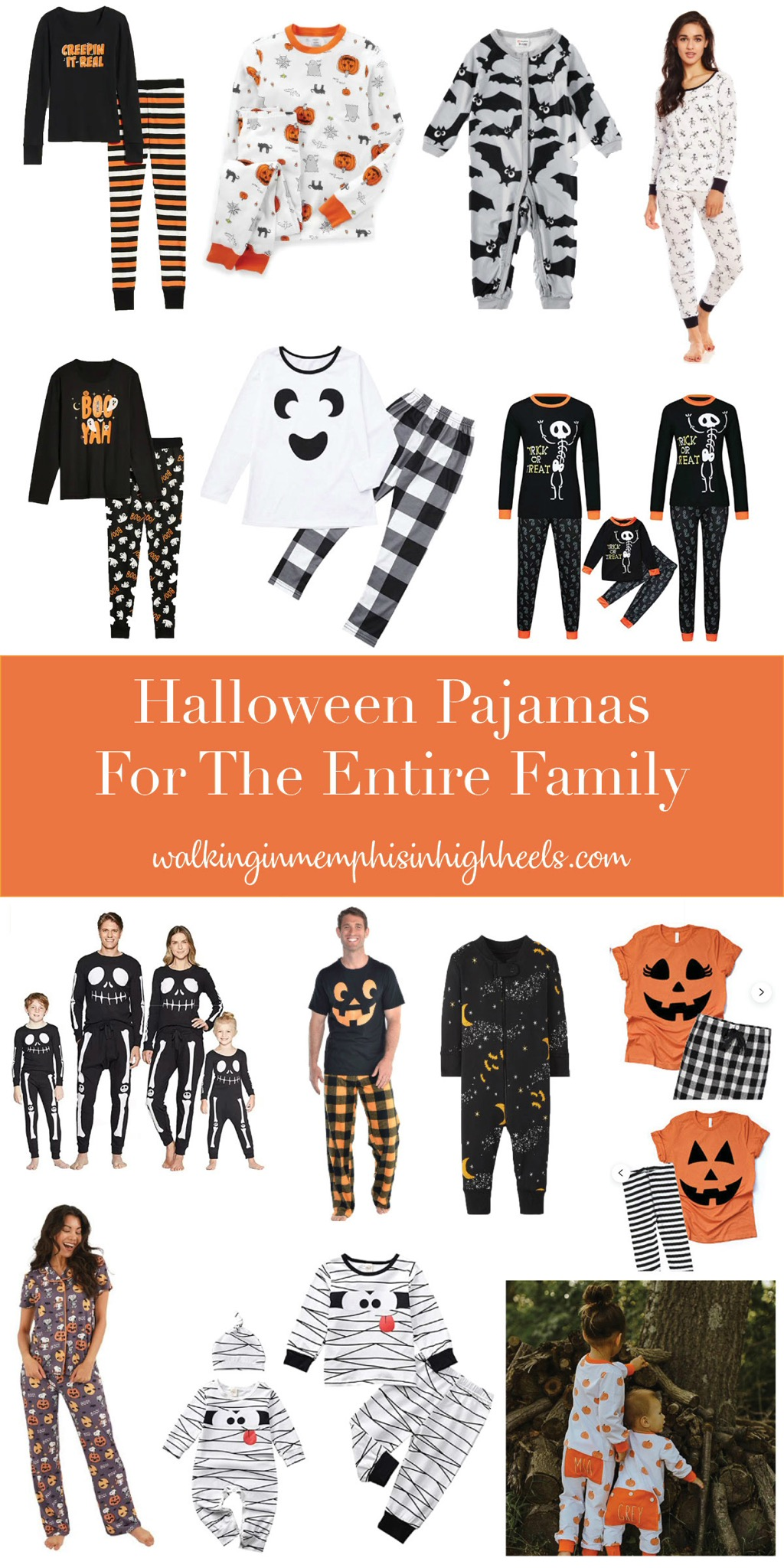 Spooky Halloween Pajamas for the Entire Family featured by top Memphis lifestyle blogger, Walking in Memphis in High Heels.