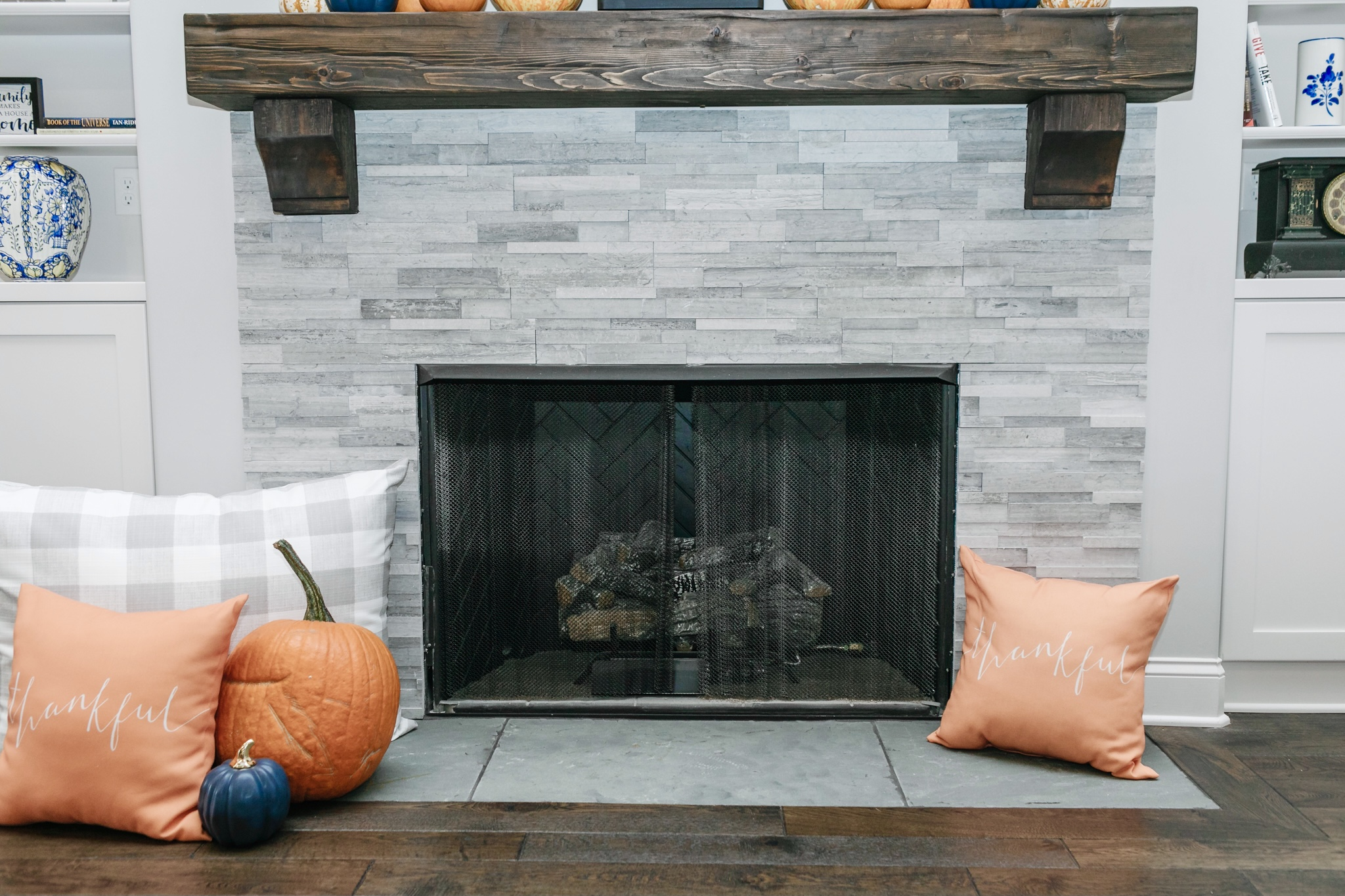 Fall Fireplace Decor - How to Decorate Your Mantle & Fireplace for Fall, tips featured by top Memphis lifestyle blogger, Walking in Memphis in High Heels.