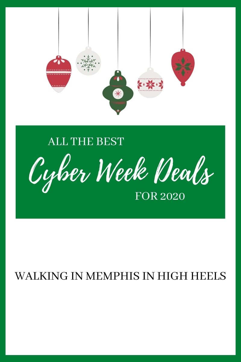 Best Cyber Monday Deals, a shopping guide featured by top Memphis life and style blogger, Walking in Memphis in High Heels.
