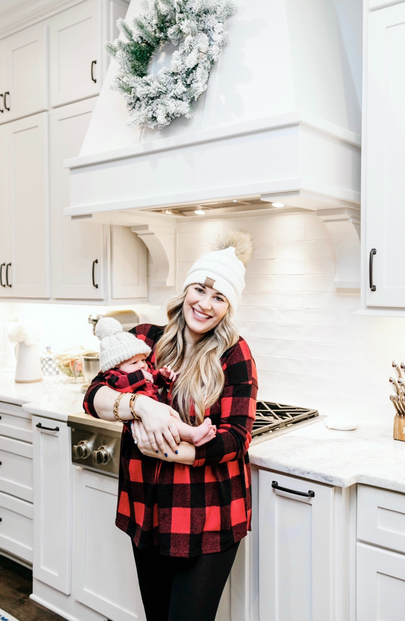 Cute winter prints and patterns featured by top Memphis fashion blogger, Walking in Memphis in High Heels: image of a woman wearing a Pink Lily buffalo plaid shirt