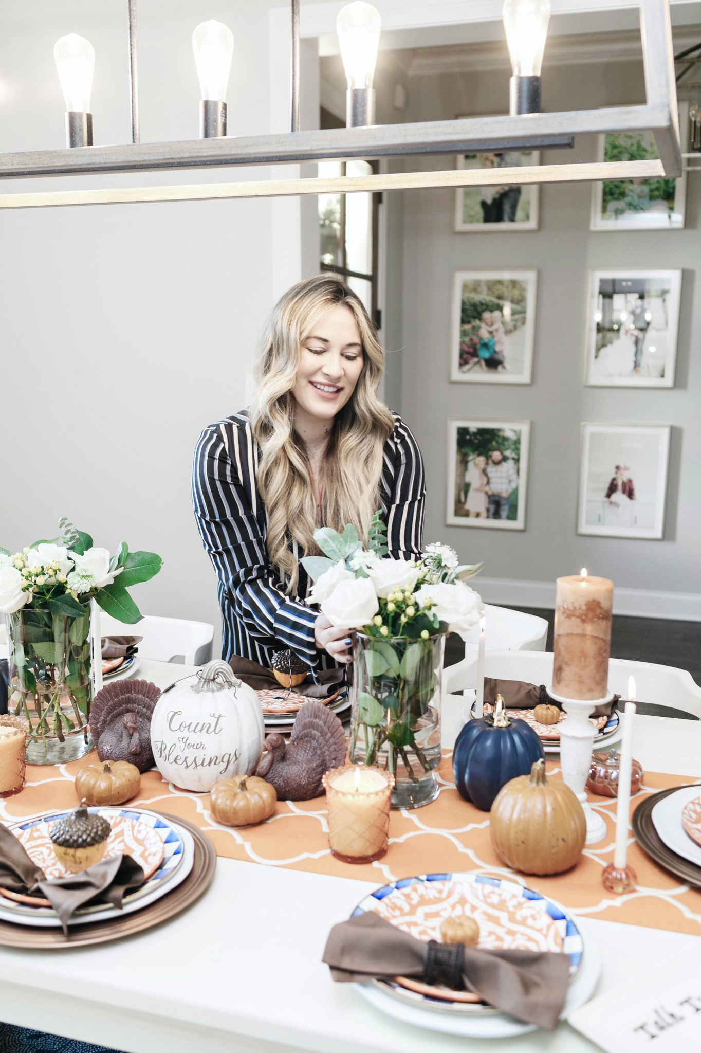 Thanksgiving Tablescape tips featured by top Memphis lifestyle blogger, Walking in Memphis in High Heels.