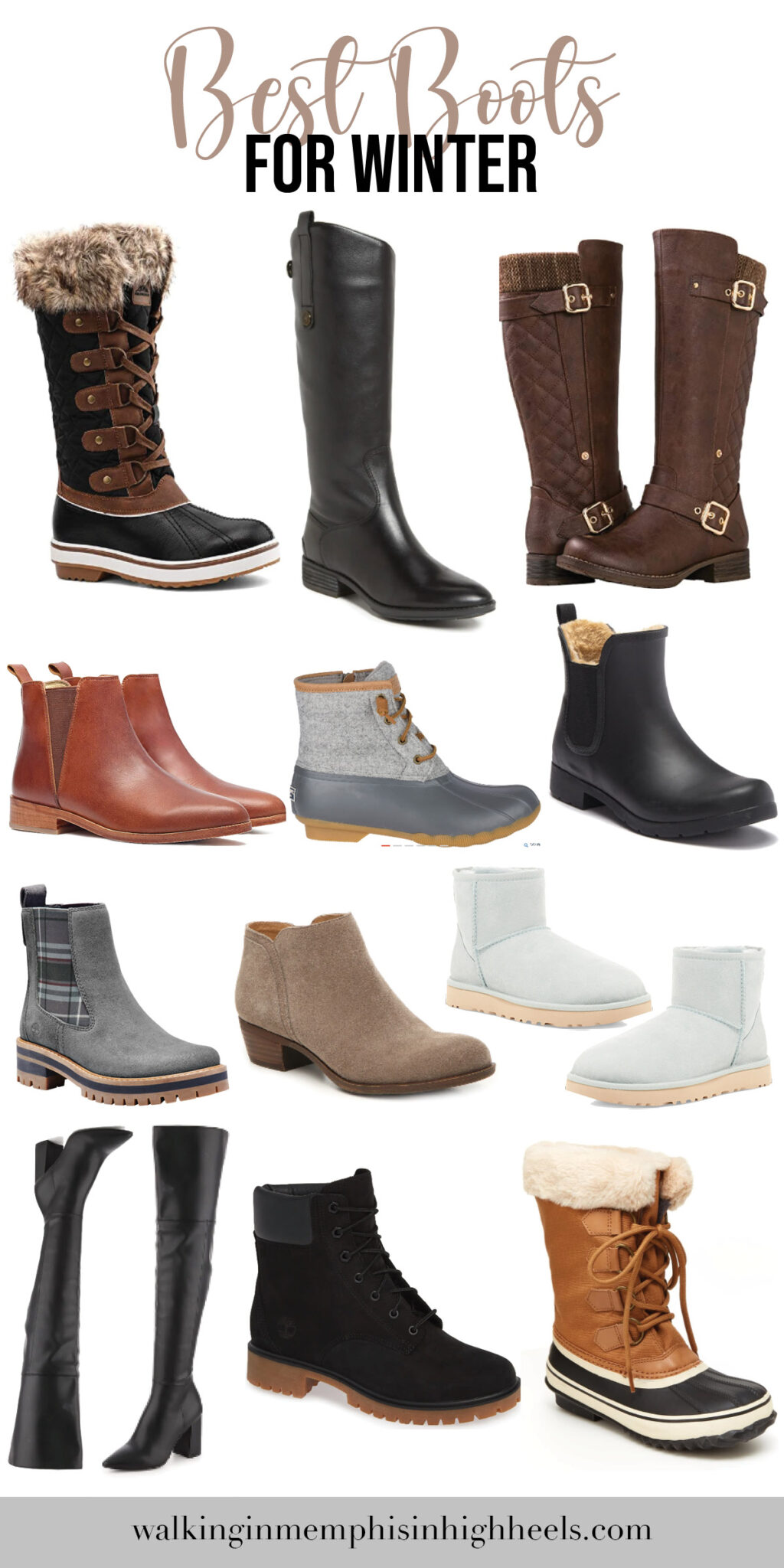 best boots for winter featured by top Memphis fashion blogger, Walking in Memphis in High Heels.