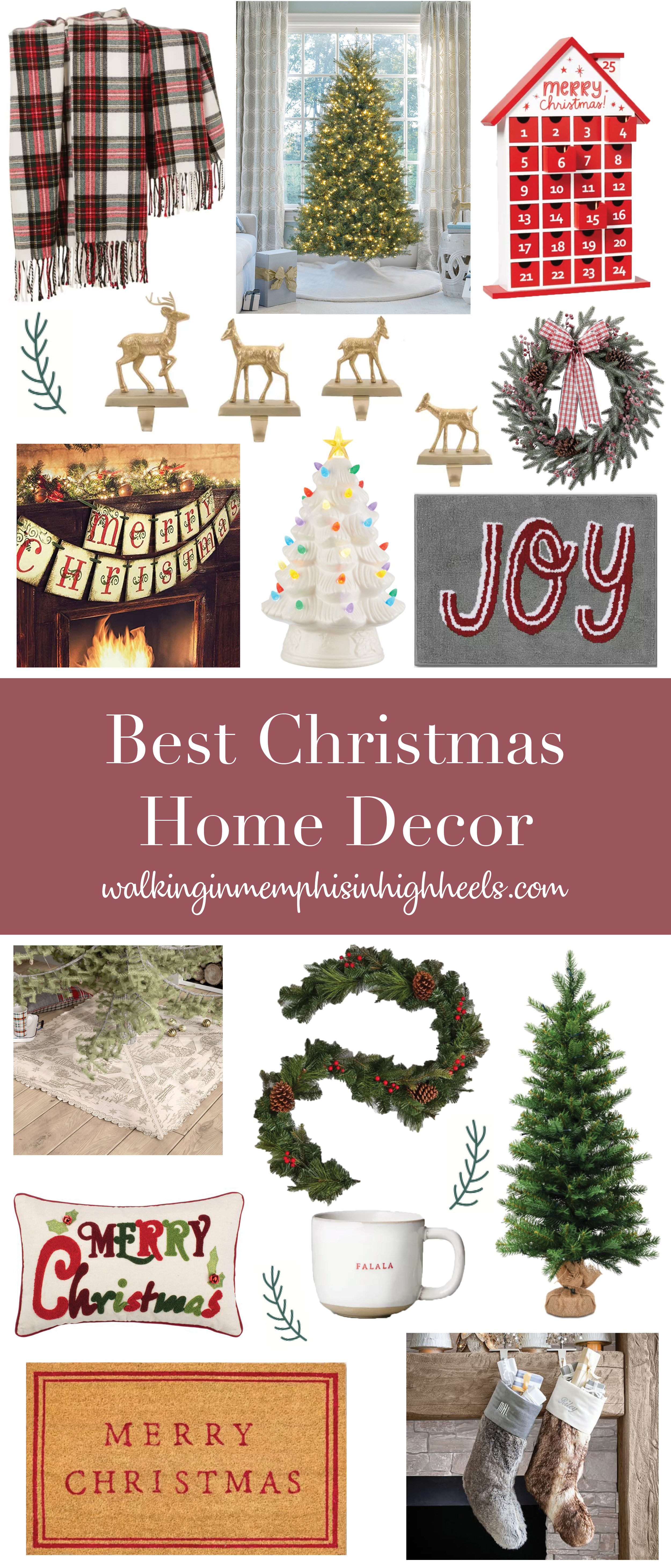 Best Christmas Home Decor featured by top Memphis lifestyle blogger, Walking in Memphis in High Heels.