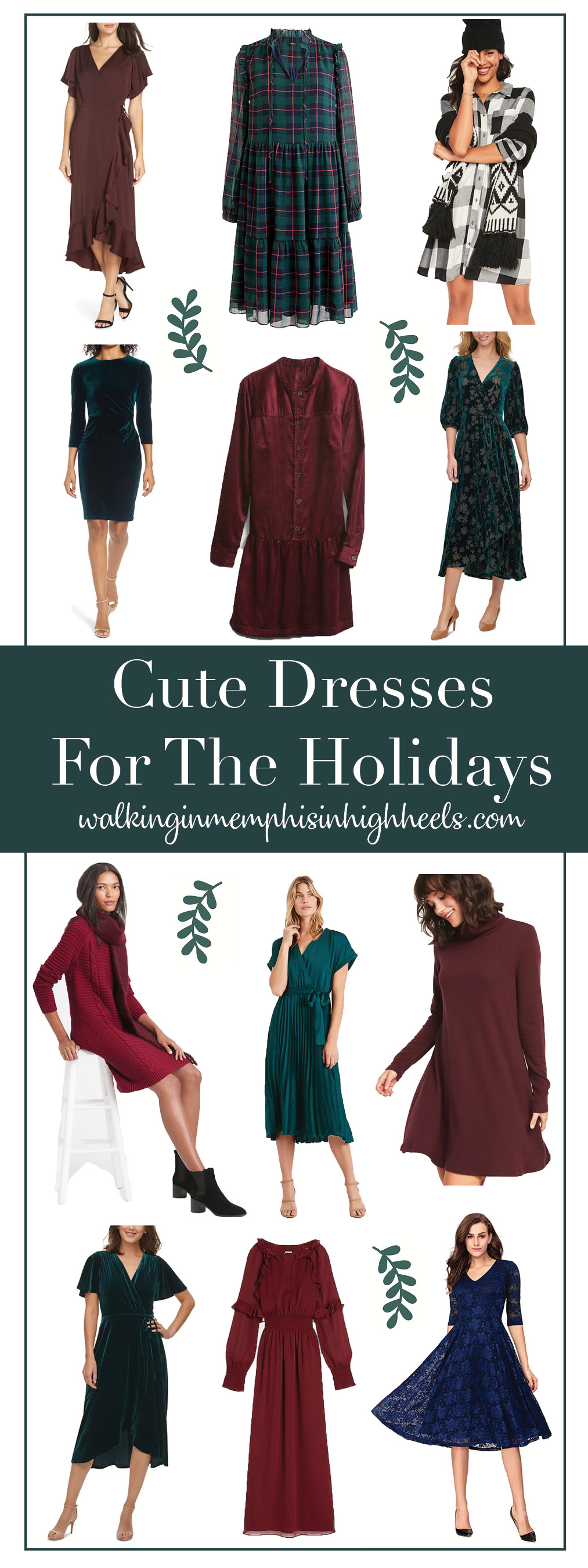 12 Cute Holiday Dresses for Women featured by top Memphis fashion blogger, Walking in Memphis in High Heels.