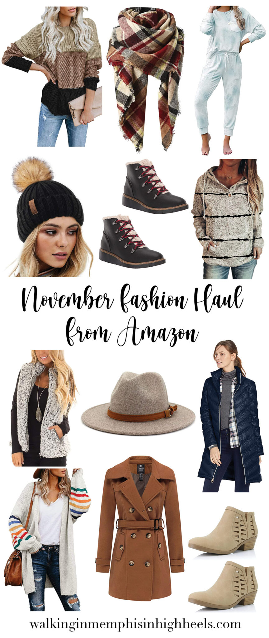 Amazon Fashion Haul for November featured by top Memphis fashion blogger, Walking in Memphis in High Heels.