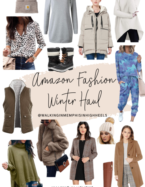 Amazon Fashion Winter Haul featured by top Memphis fashion blogger, Walking in Memphis in High Heels.