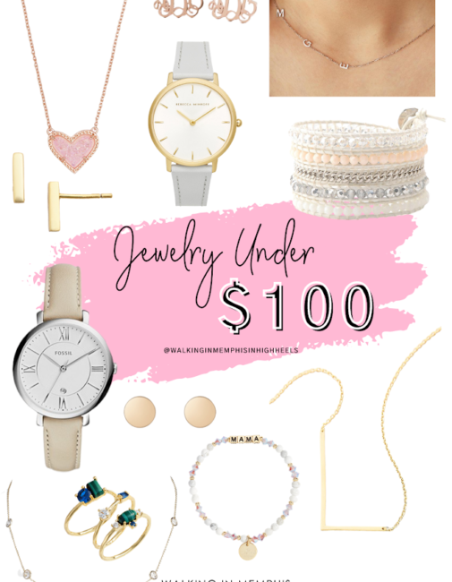 Top 10 Pieces of Jewelry Under $100 featured by top Memphis fashion blogger, Walking in Memphis in High Heels.