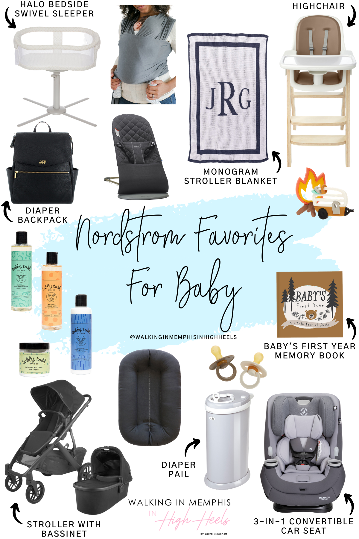 Nordstrom Favorites for Baby featured by top Memphis mommy blogger, Walking in Memphis in High Heels.