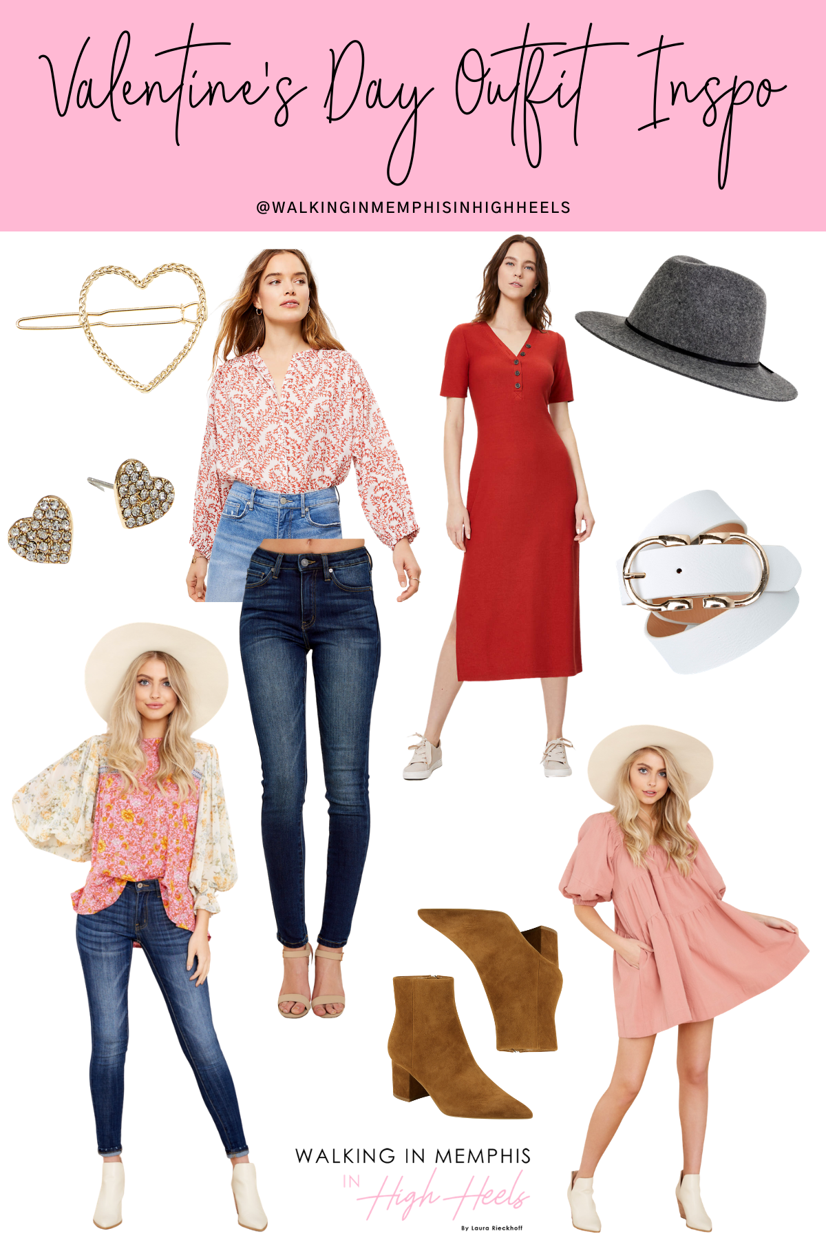 10 Cute Valentine's Day Outfits for Women featured by top Memphis fashion blogger, Walking in Memphis in High Heels
