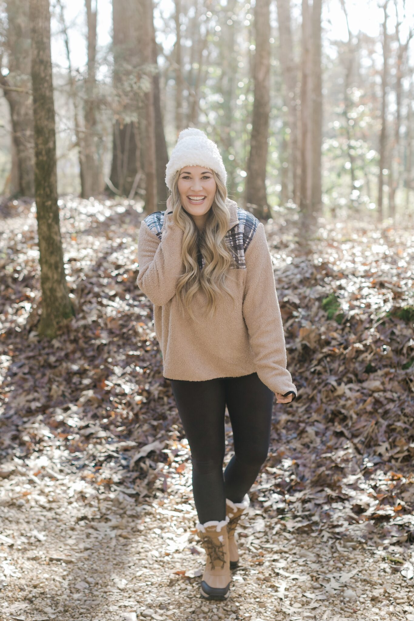 Sherpa pullover look styled by top Memphis fashion blogger, Walking in Memphis in High Heels.