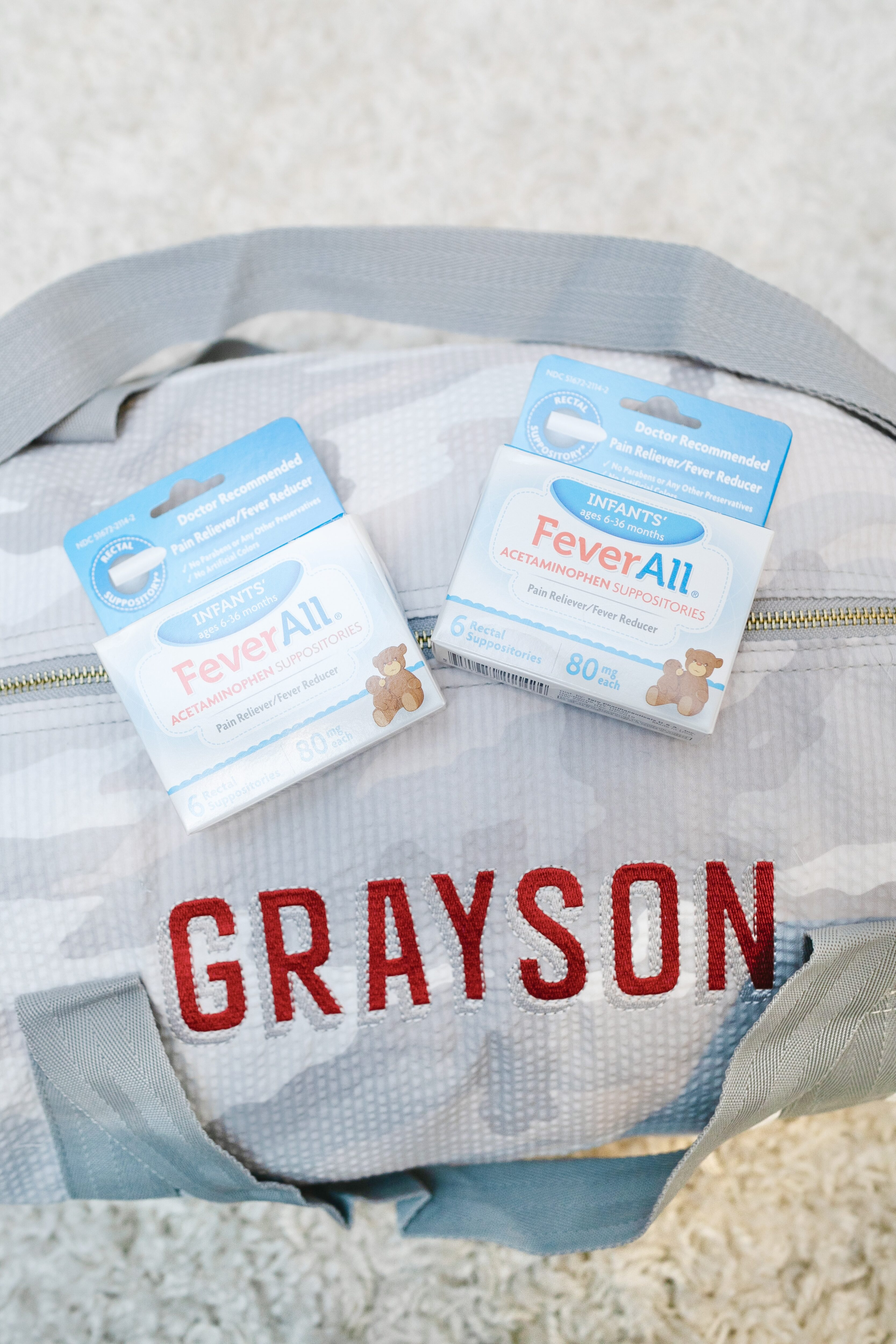 Feverall Suppositories review: perfect for baby's fever. A review featured by top US mommy blogger, Walking in Memphis in High Heels.