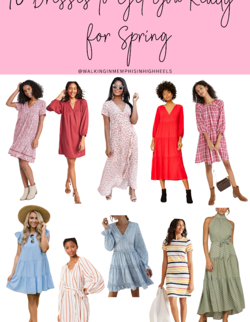 10 Cute Dresses for Spring featured by top Memphis fashion blogger, Walking in Memphis in High Heels.