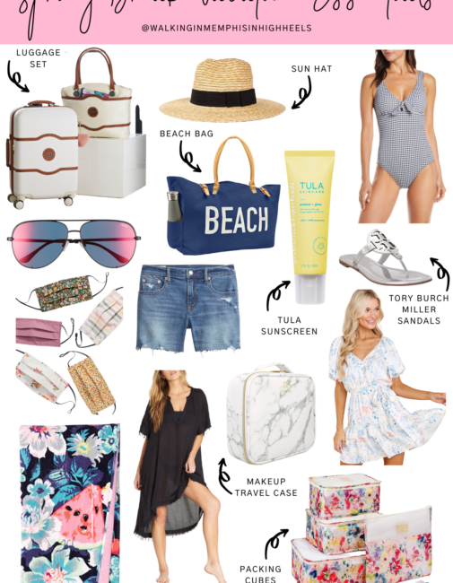 Spring Break Vacation Essentials featured by top travel blogger, Walking in Memphis in High Heels.