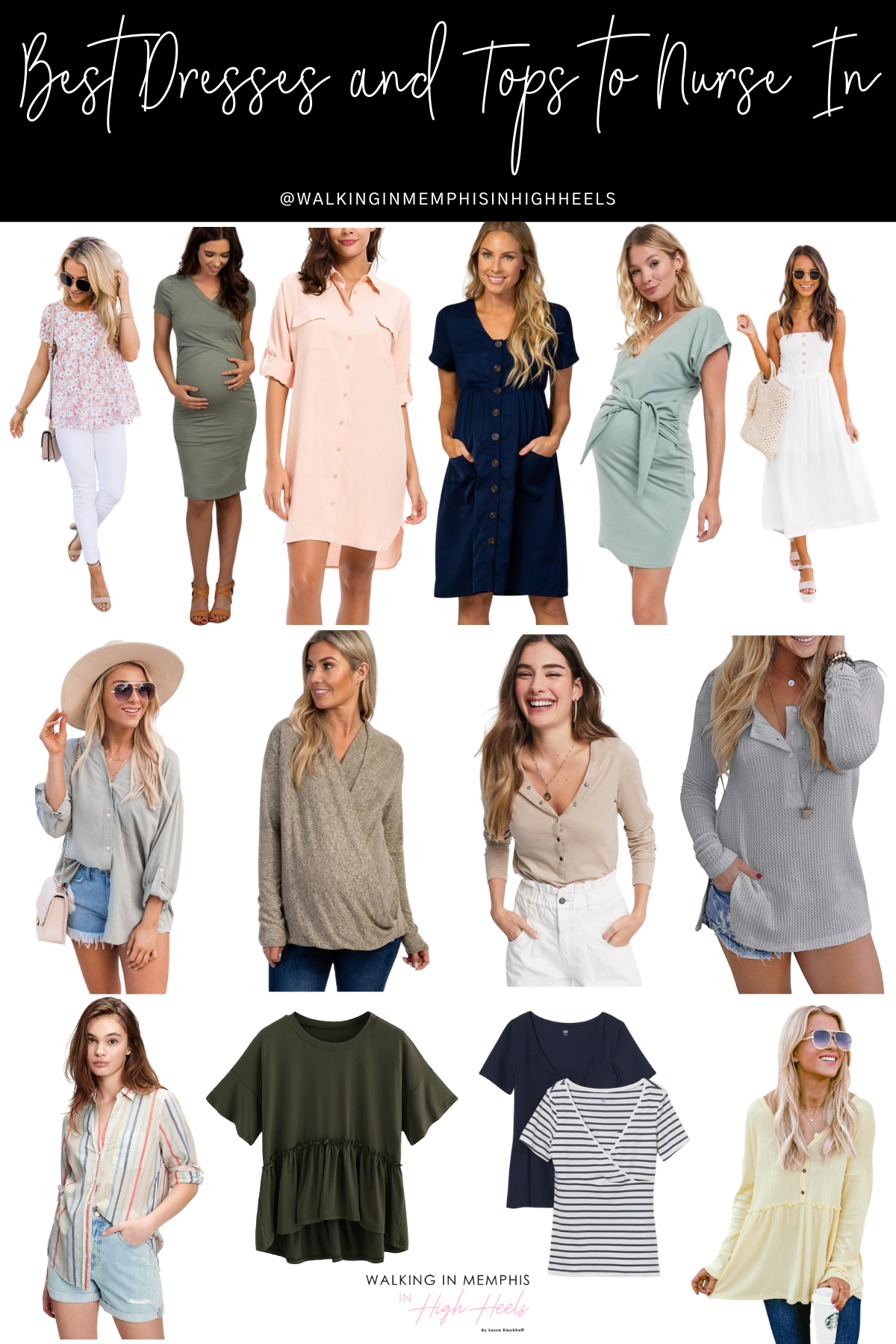 Best Nursing Dresses & Tops for the New Mom featured by top Memphis mommy blogger, Walking in Memphis in High Heels.