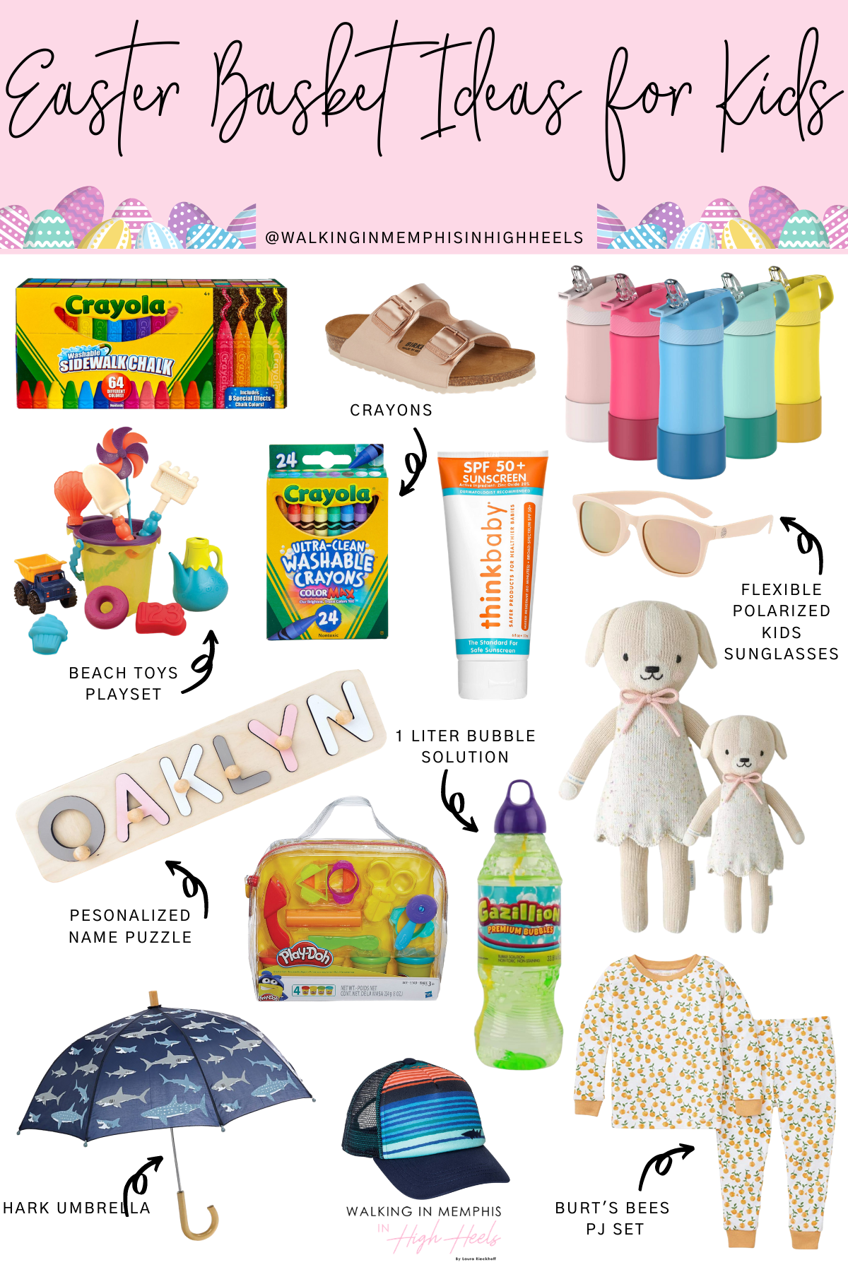 Easy Easter Basket Ideas for Kids featured by top Memphis mommy blogger, Walking in Memphis in High Heels.