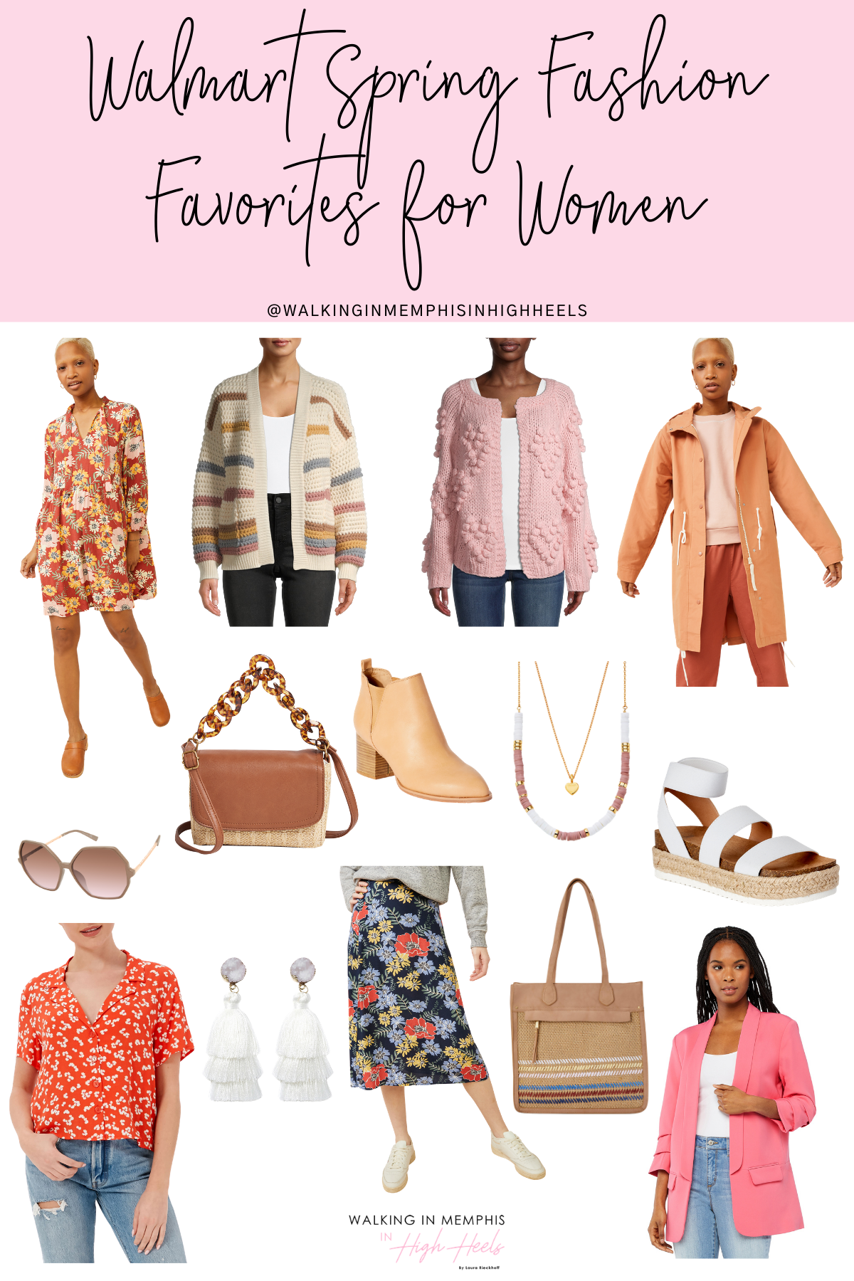 Walmart Spring Fashion Essentials for Women featured by top Memphis fashion blogger, Walking in Memphis in High Heels.