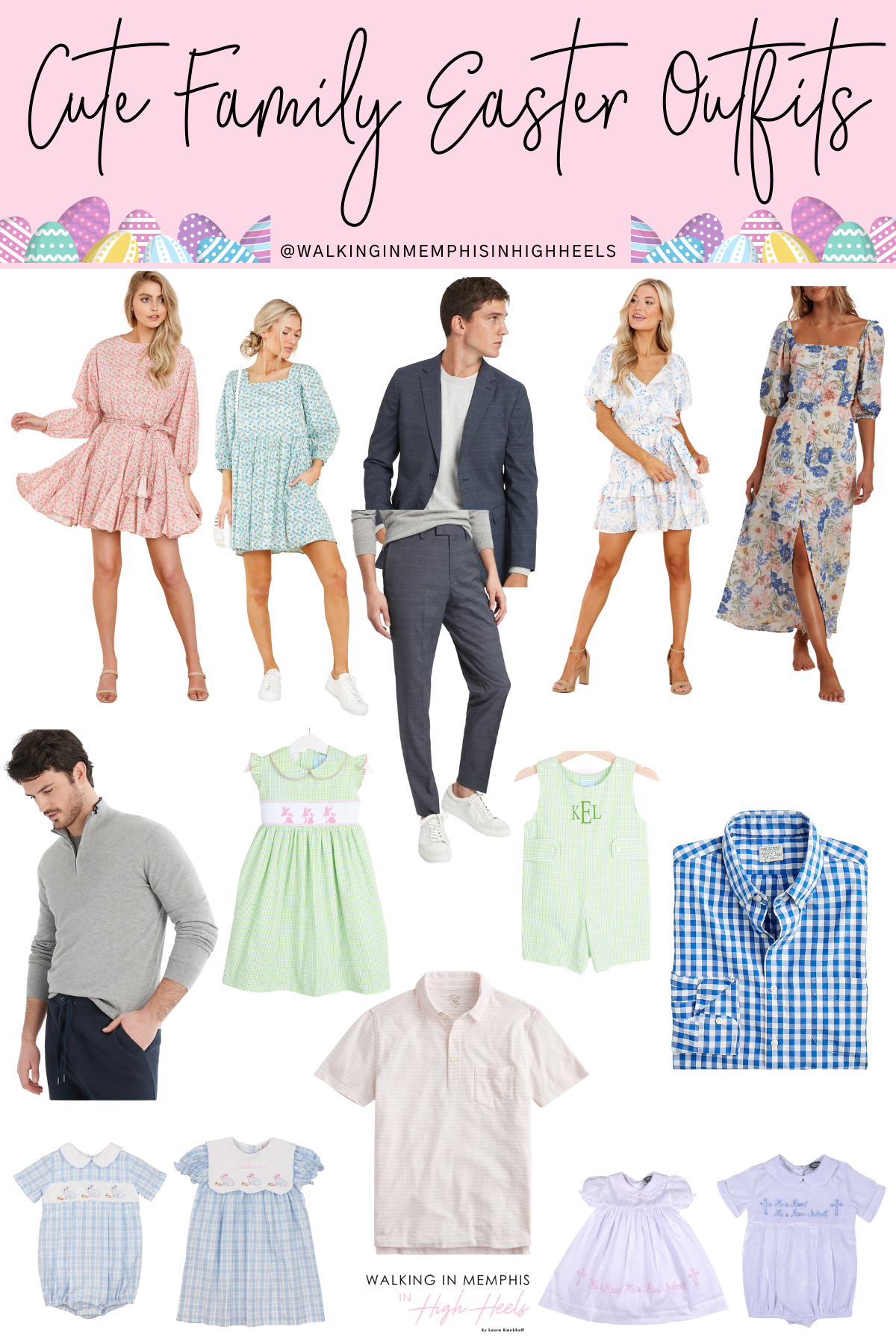 Family easter outfits featured by top Memphis fashion blogger, Walking in Memphis in High Heels.