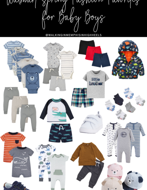 Walmart fashion spring favorites for baby boys featured by top Memphis mommy blogger, Walking in Memphis in High Heels.