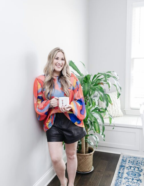 Best Flattering Shorts to Wear this Spring featured by top Memphis fashion blogger, Walking in Memphis in High Heels: image of a woman wearing Topshop faux leather shorts.