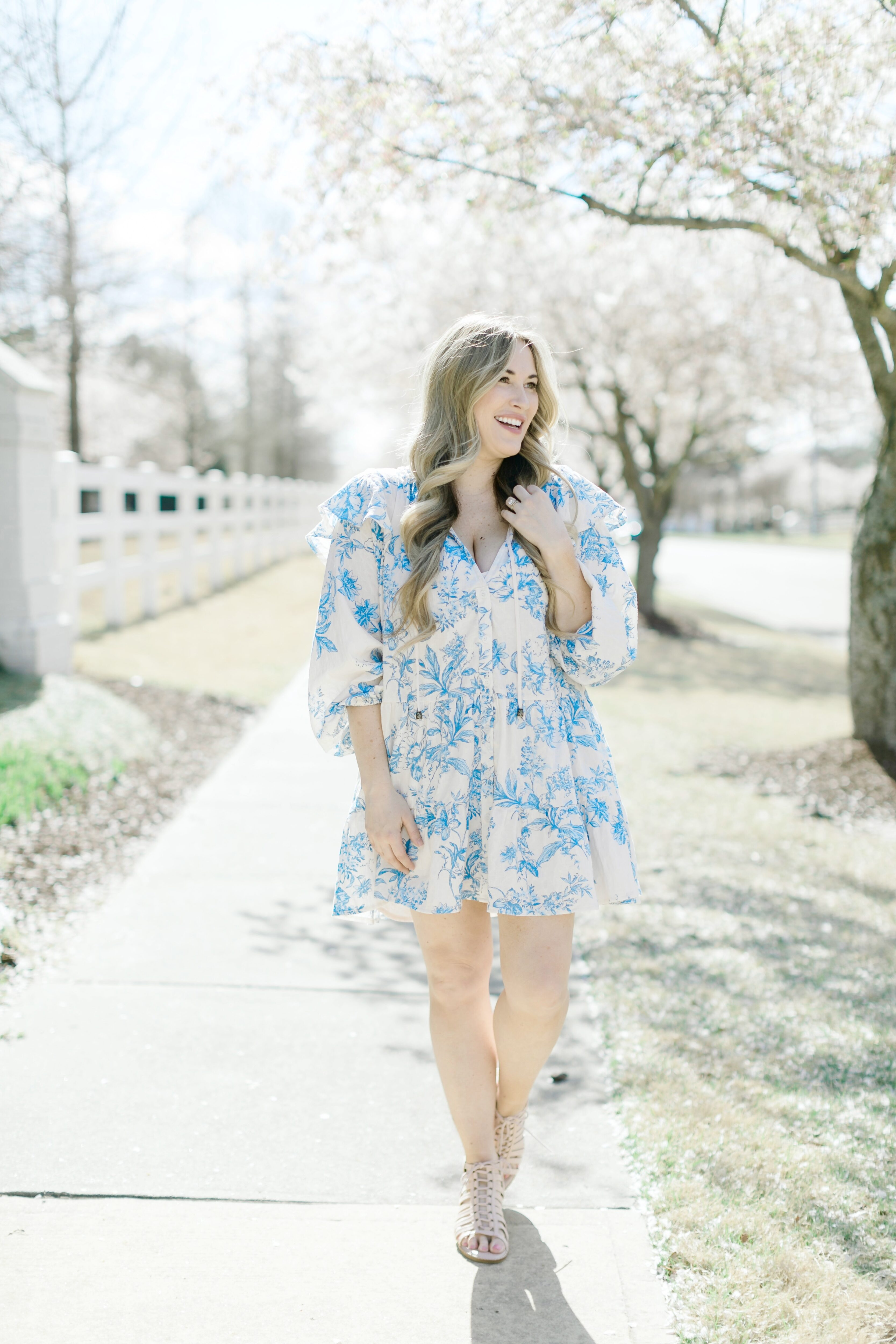 Feminine spring look styled by top Memphis fashion blogger, Walking in Memphis in High Heels.