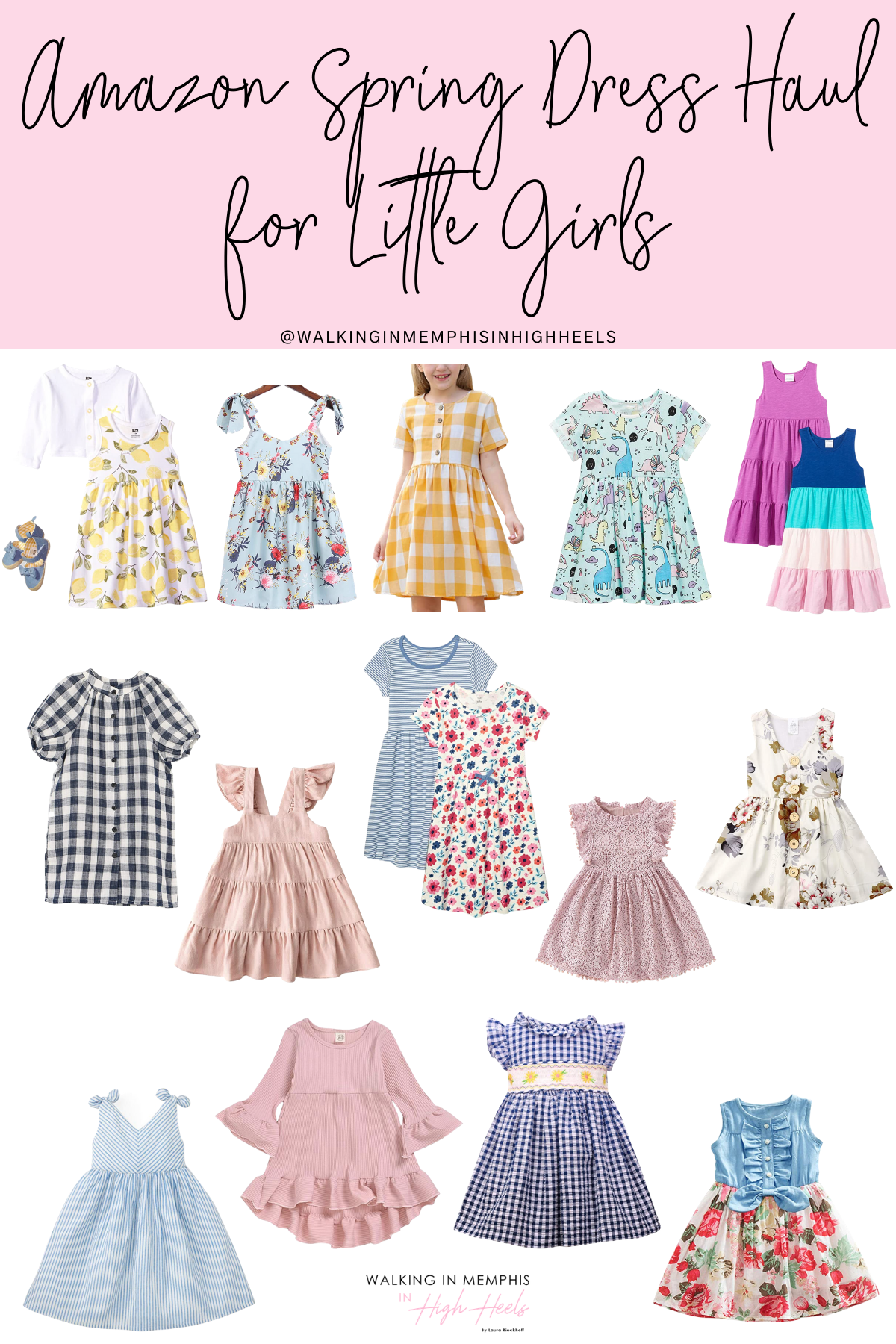 Amazon Spring Dress Haul for Little Girls featured by top Memphis fashion blogger, Walking in Memphis in High Heels.