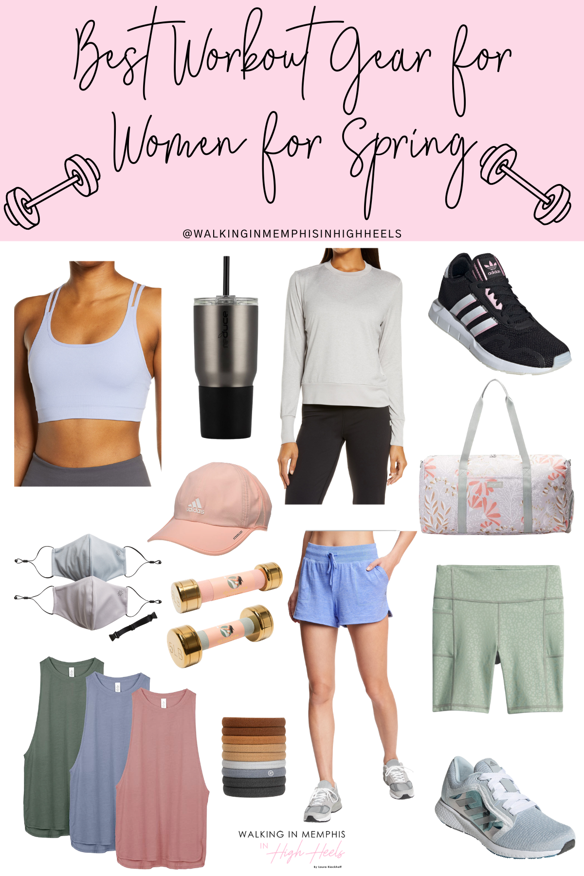 Best Workout Gear for Women for Spring featured by top Memphis fitness blogger, Walking in Memphis in High Heels.