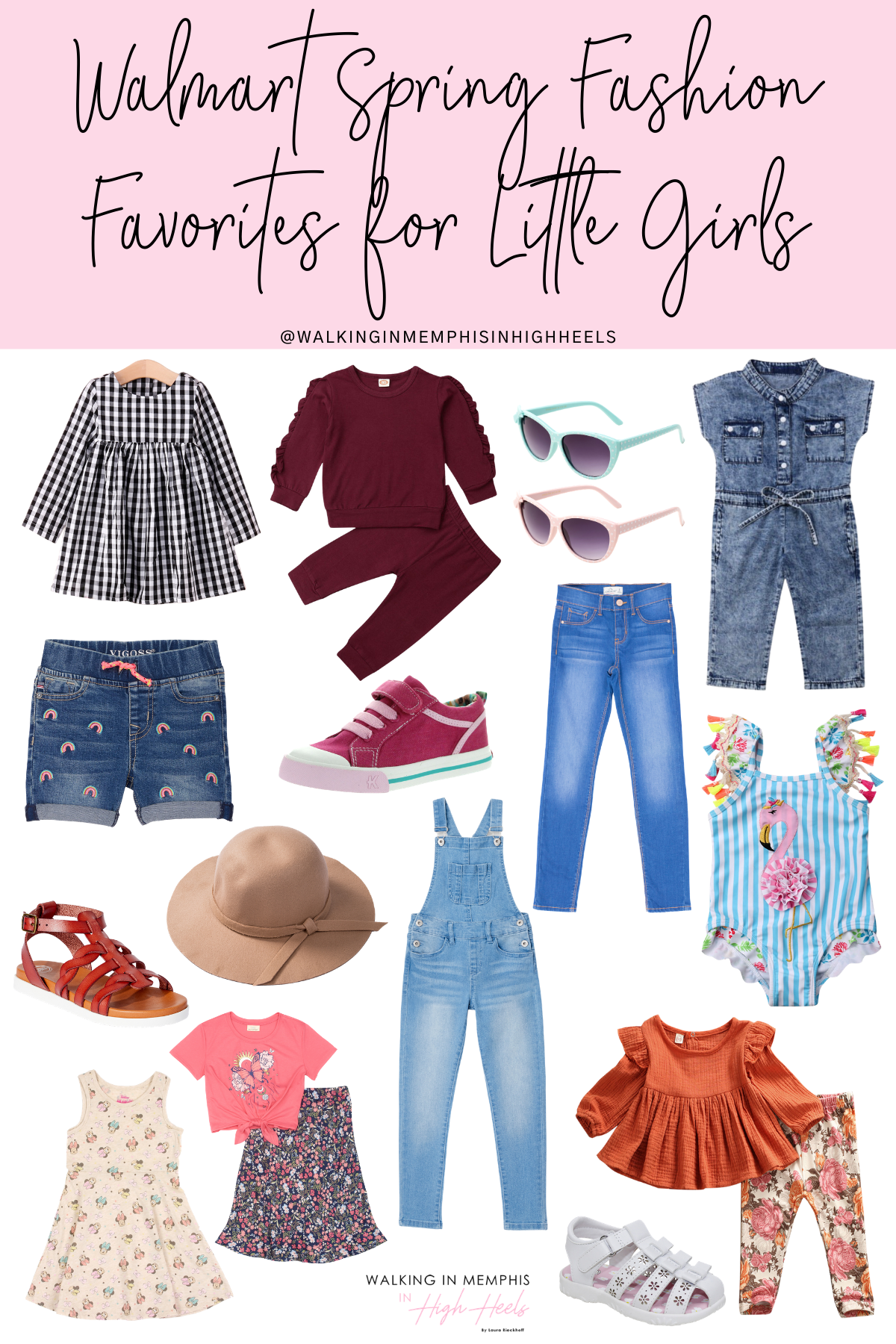 Walmart Spring Fashion Favorites for Little Girls featured by top Memphis fashion blogger, Walking in Memphis in High Heels.