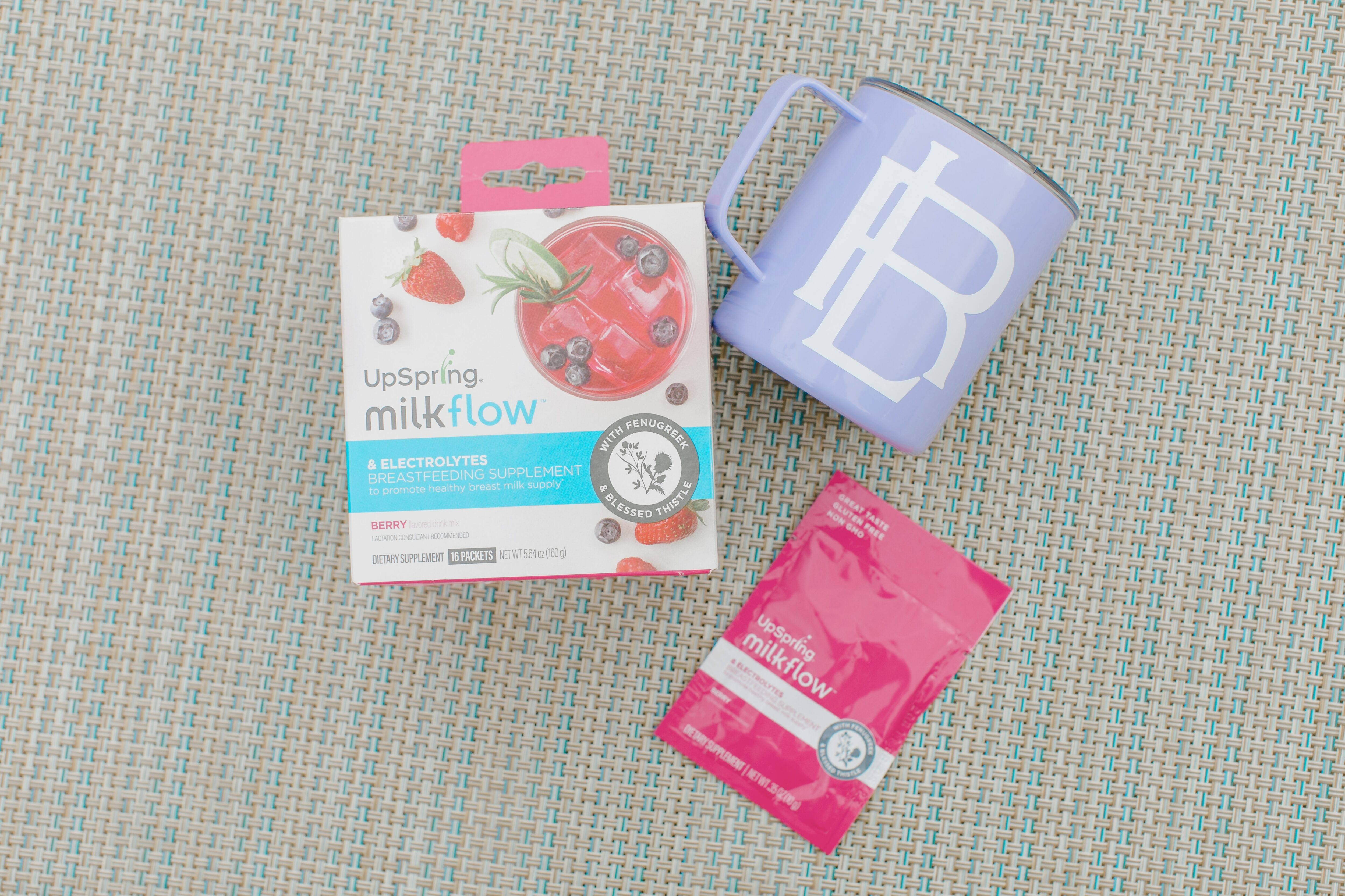 How to Stay Hydrated When Breastfeeding: UpSpring Milkflow + electrolytes review featured by top Memphis mommy blogger, Walking in Memphis in High Heels.