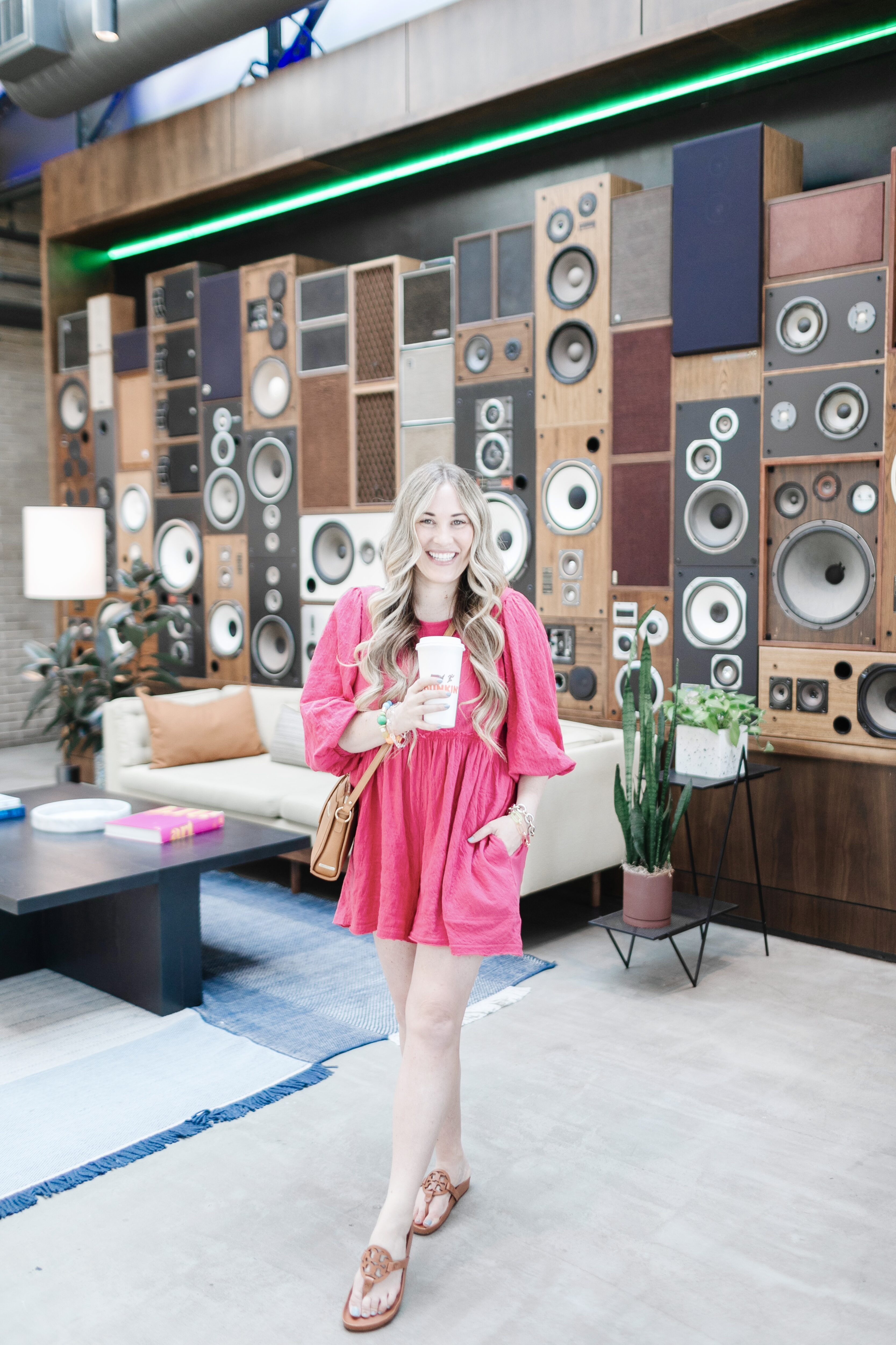 Cute Spring Rompers for Women featured by top Memphis fashion blogger, Walking in Memphis in High Heels: image of a woman wearing a pink Free People romper